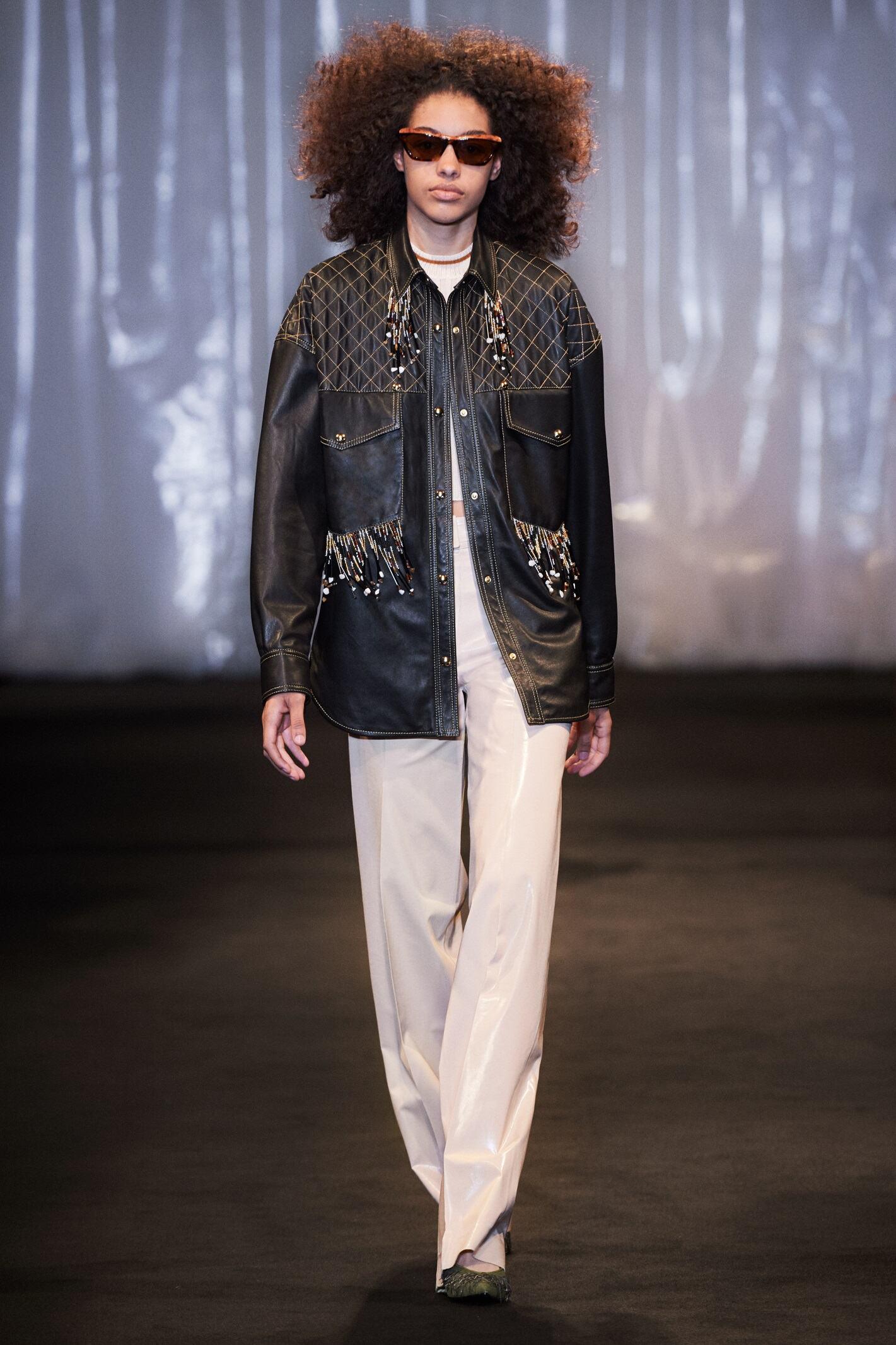 Fashion Woman Model Acne Studios Catwalk