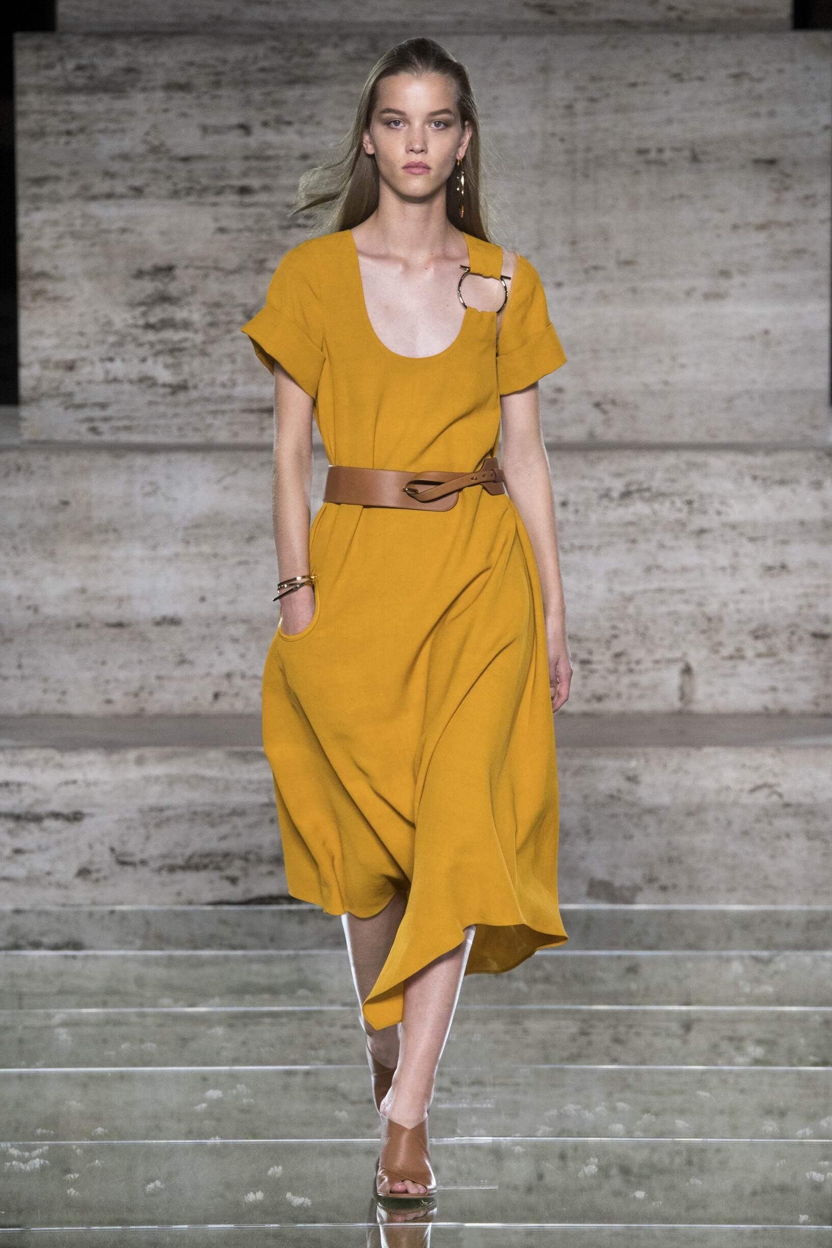 Fashion Woman Model Salvatore Ferragamo Catwalk
