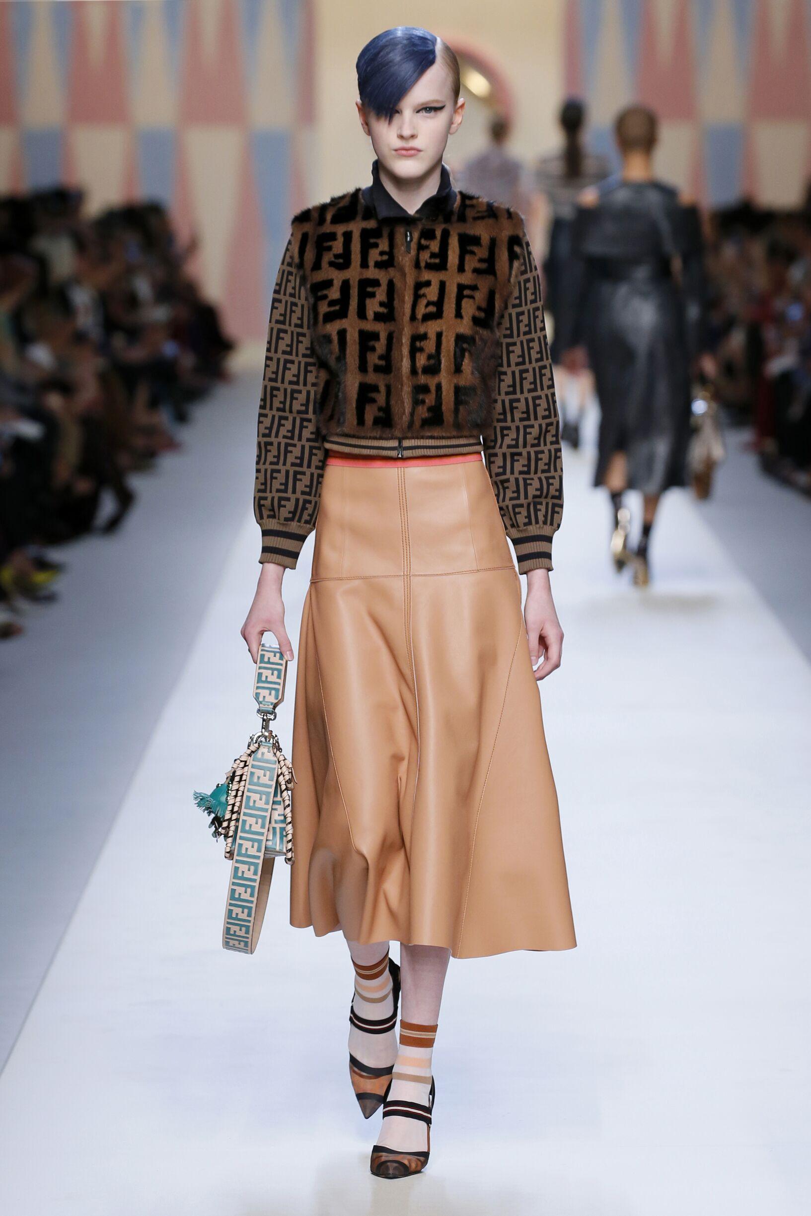 863cd01259 Fendi Spring Summer 2018 Womens Collection Milan Fashion Week