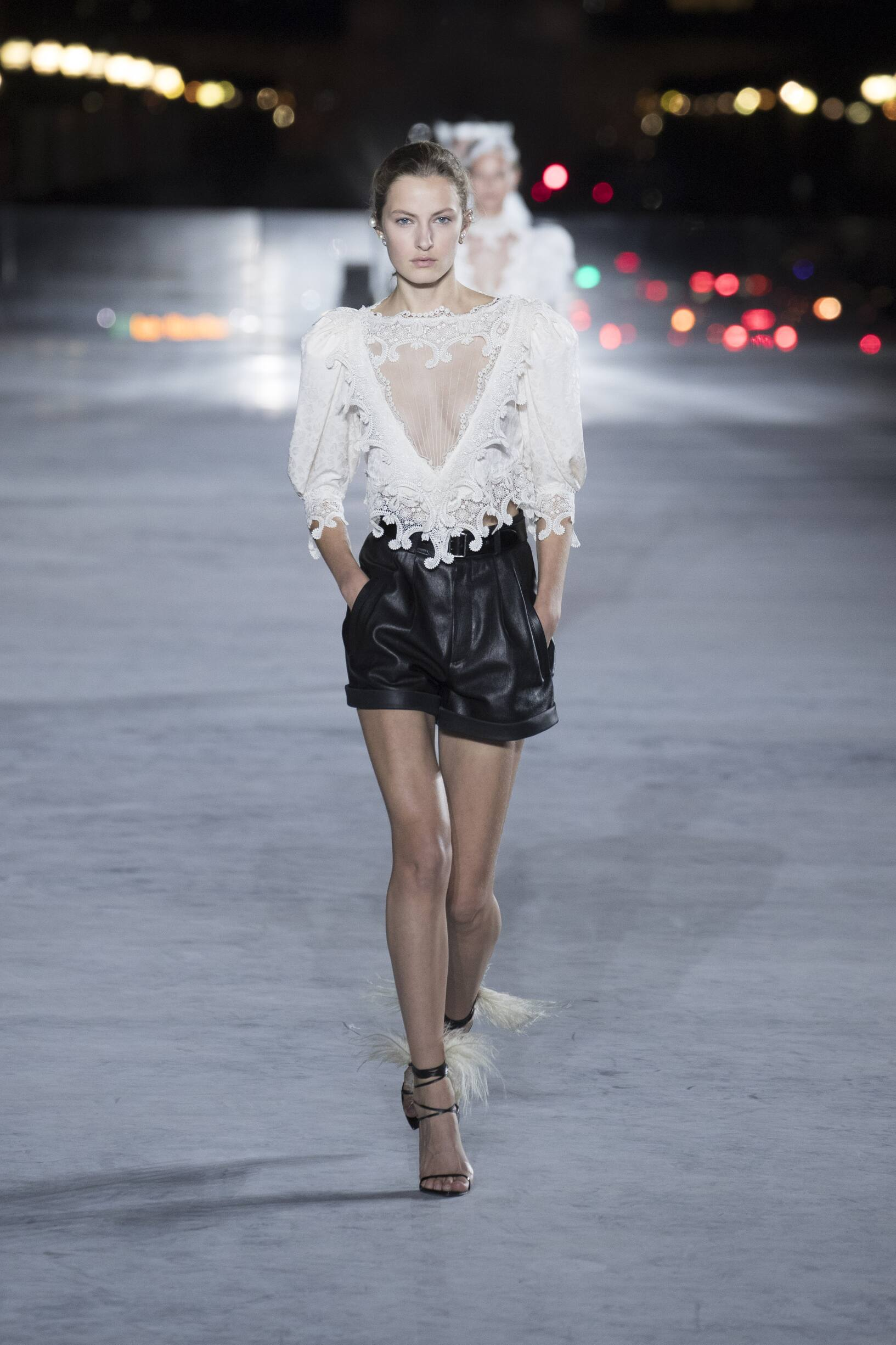 SS 2018 Saint Laurent Fashion Show Paris Fashion Week