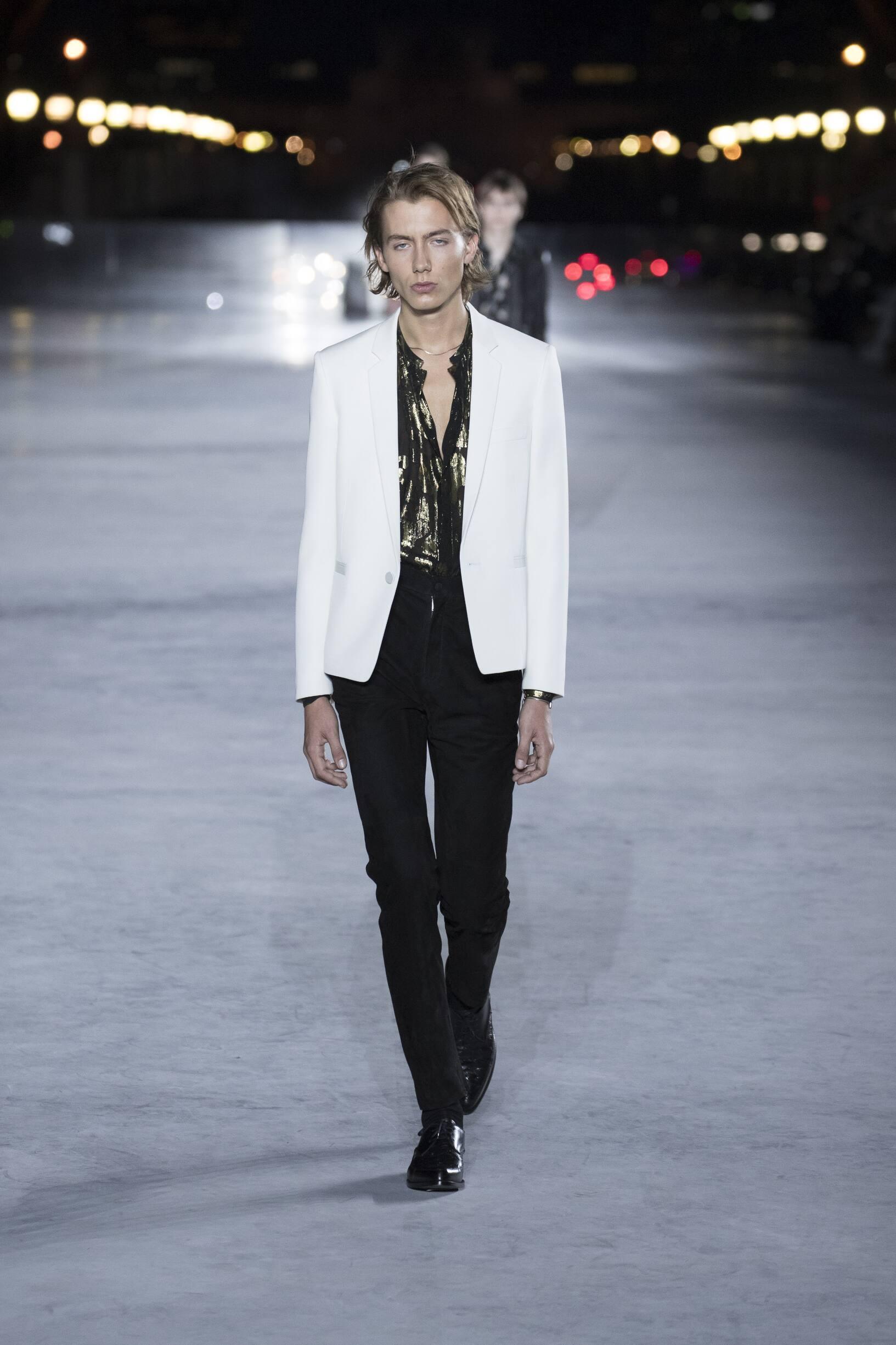Saint Laurent Paris Fashion Week Menswear