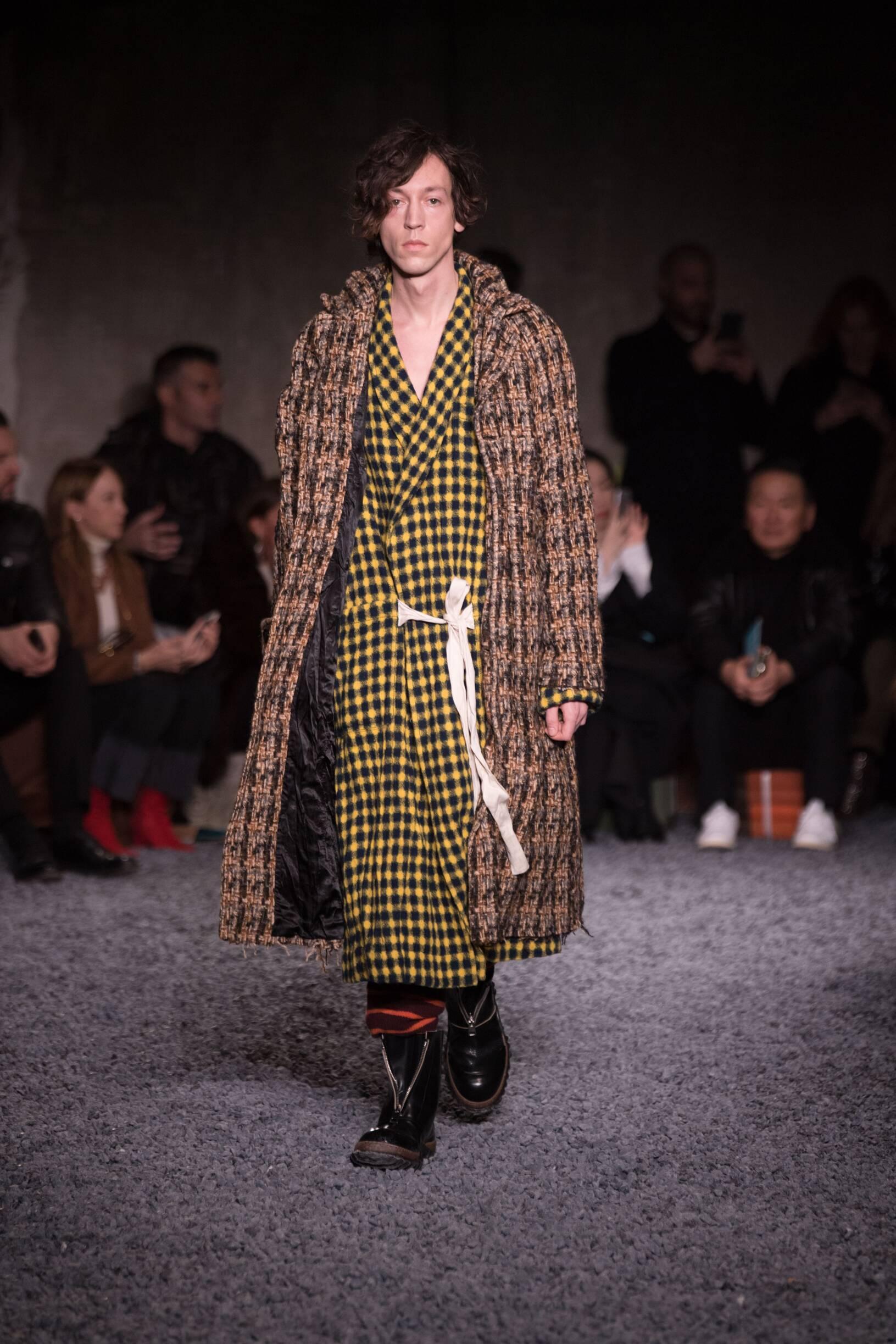 2018 Catwalk Marni Man Fashion Show Winter
