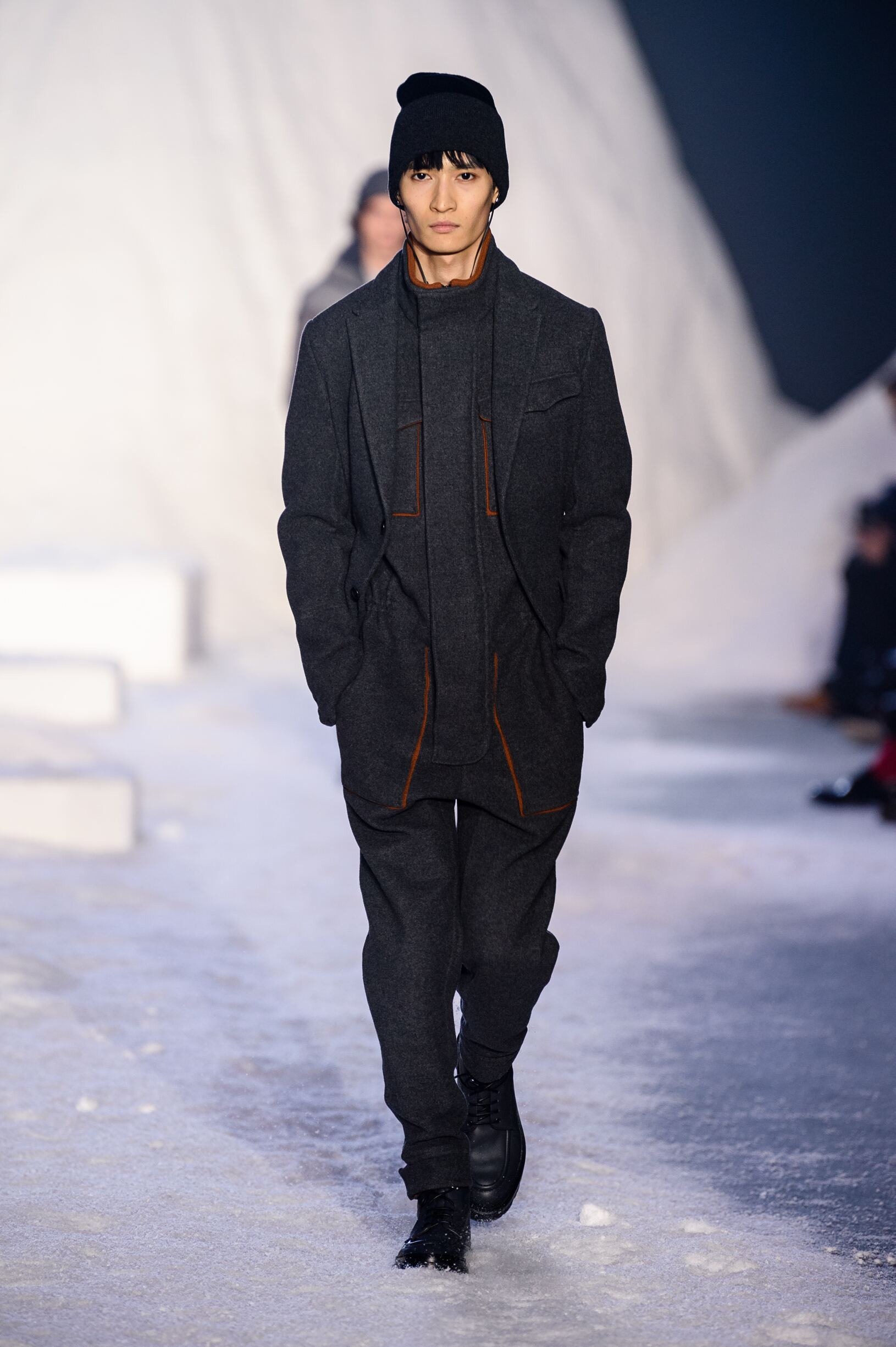 Fashion Man Model Ermenegildo Zegna Couture Catwalk