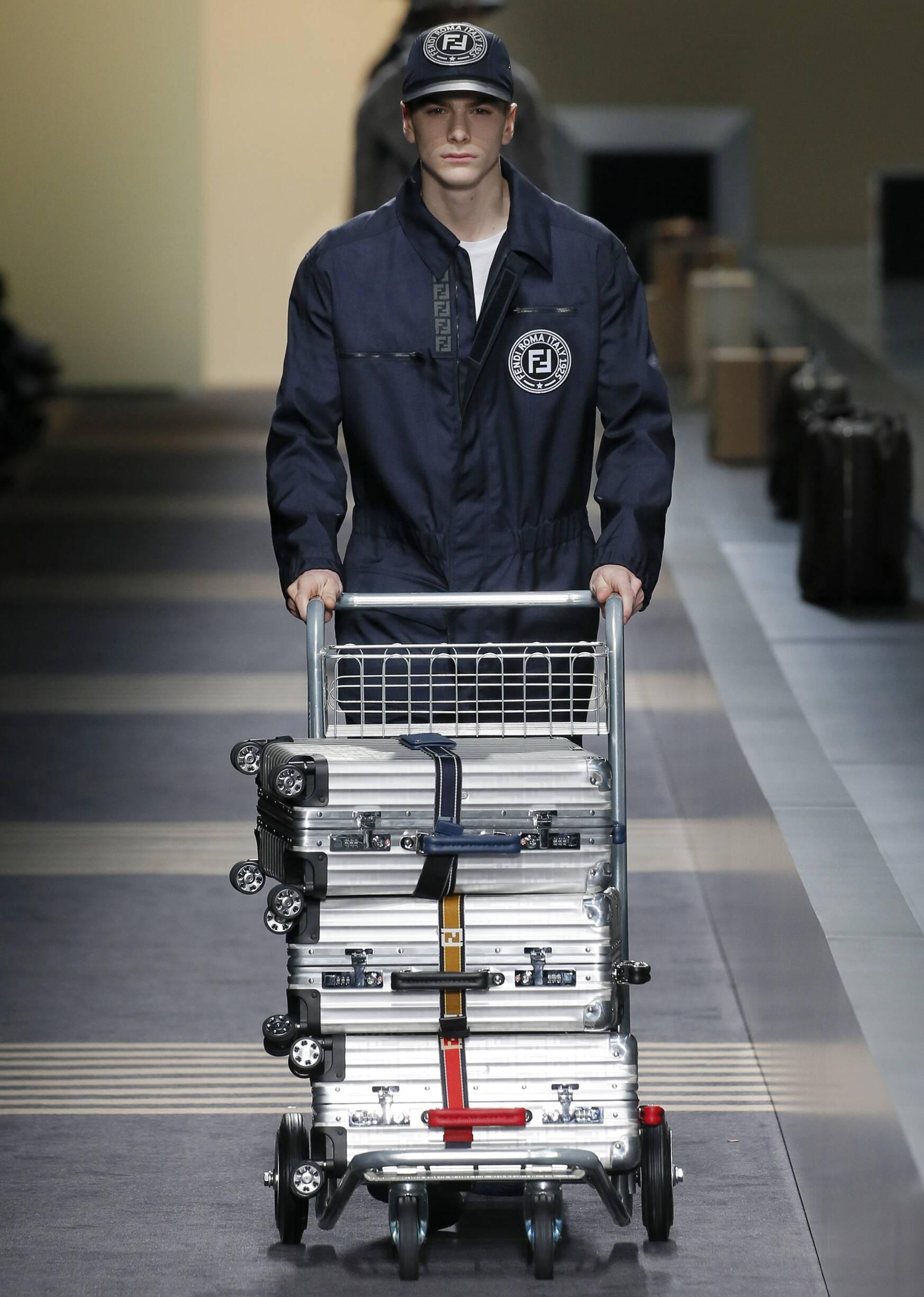 Fashion Man Model Fendi Catwalk