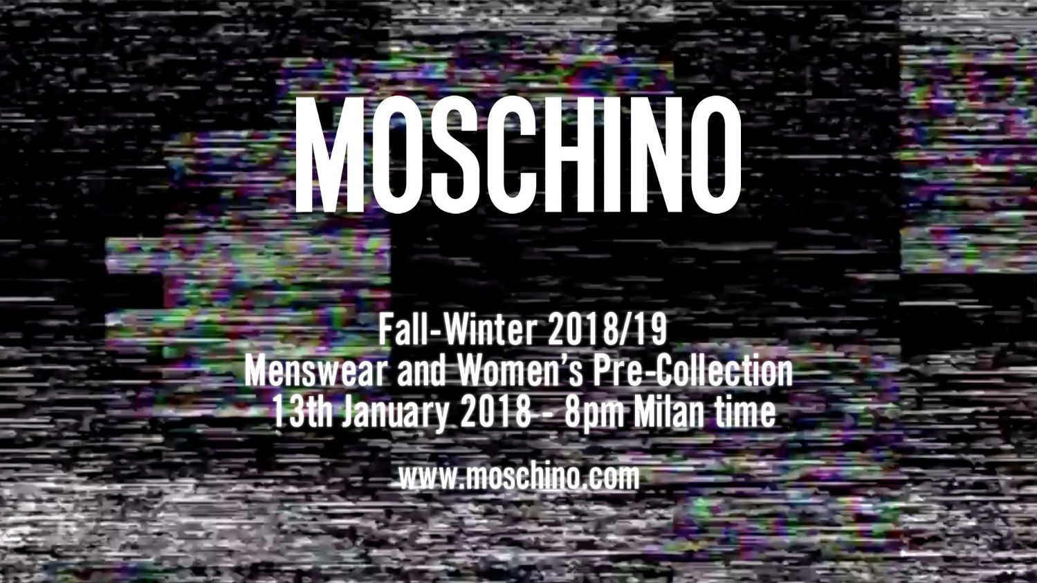Moschino Fall Winter 2018 Menswear and Women's Pre Collection Fashion Show Live Streaming