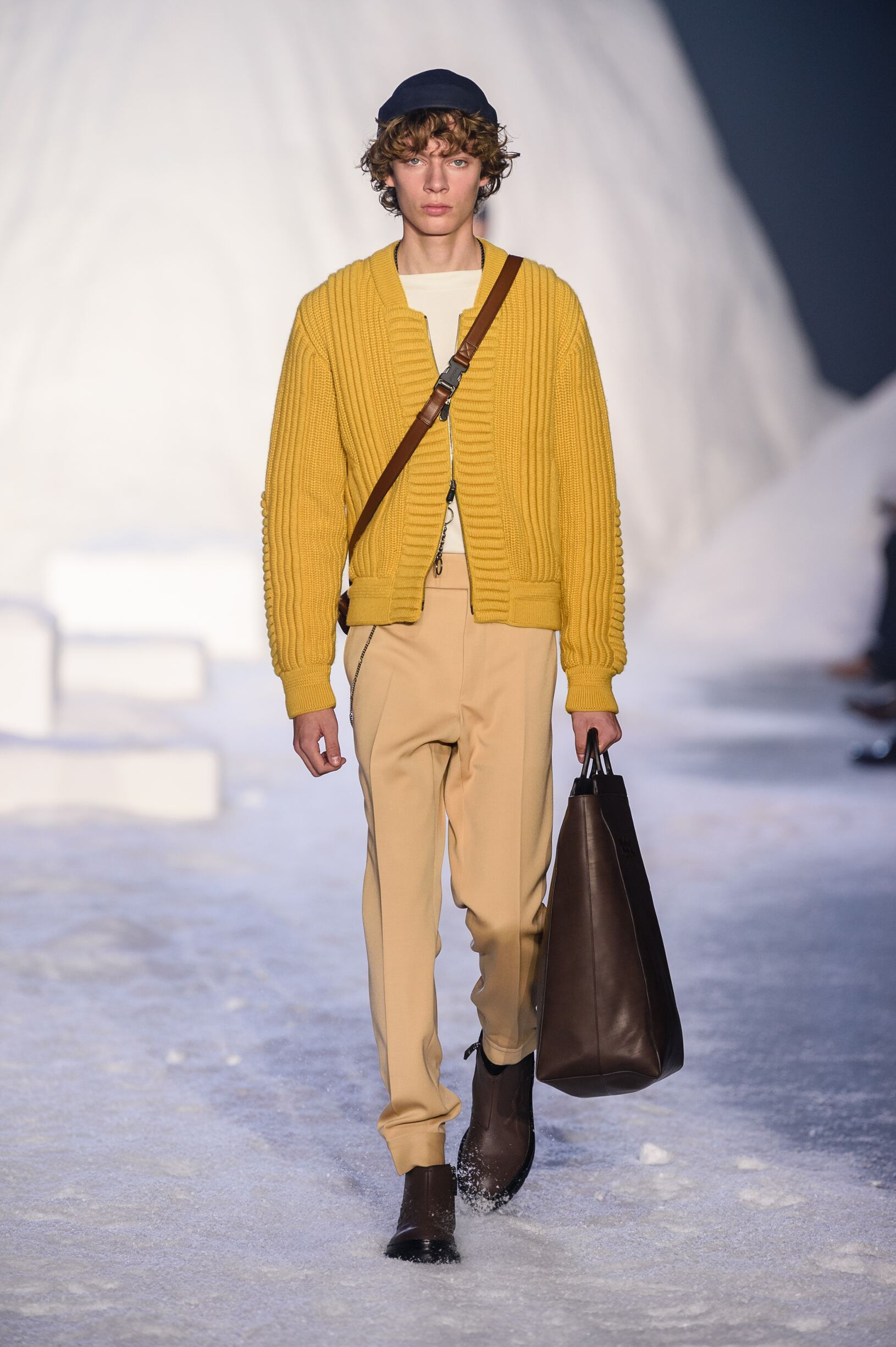Runway Ermenegildo Zegna Couture Fall Winter 2018 Men's Collection Milan Fashion Week