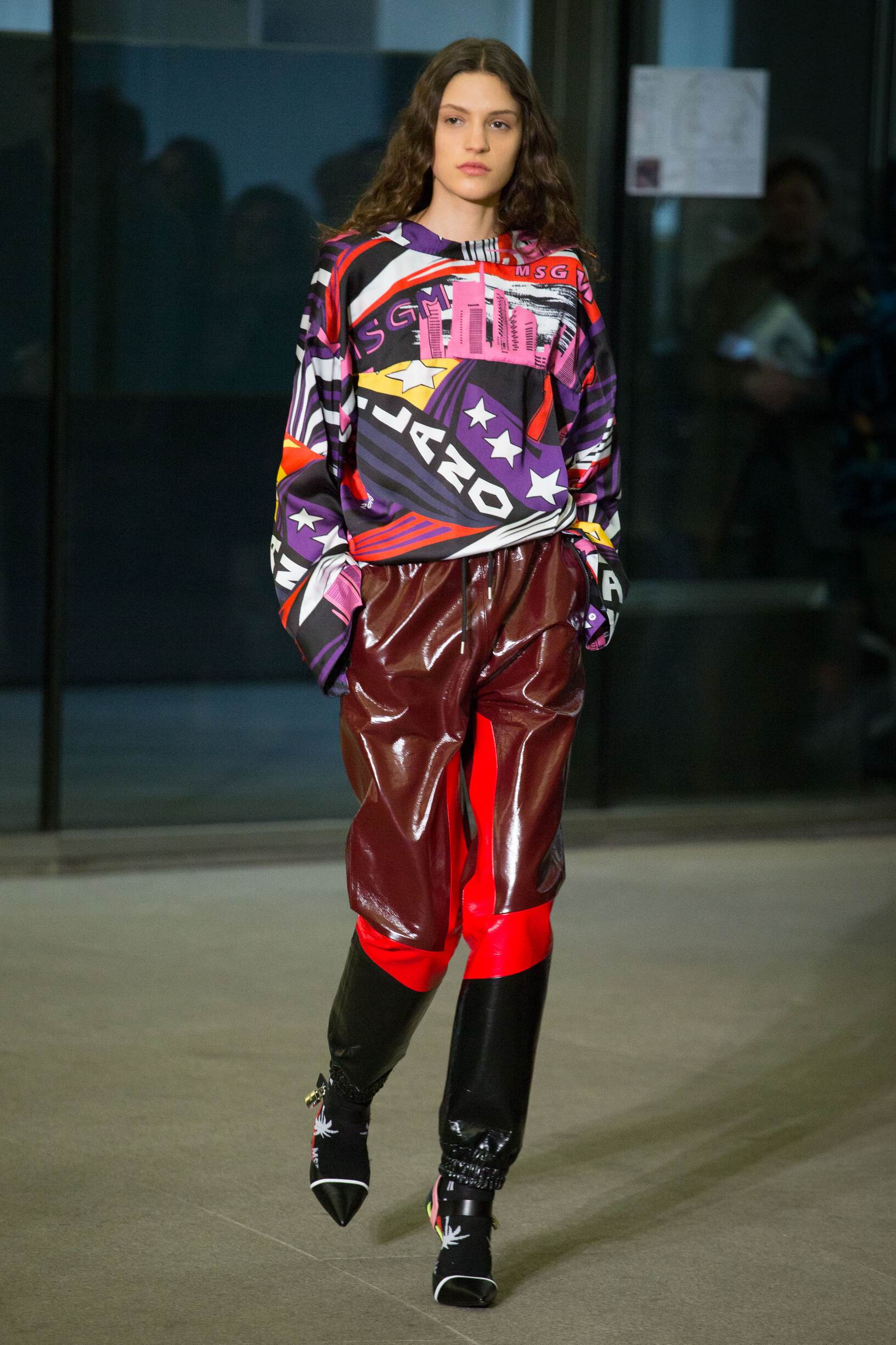 2018 Catwalk Msgm Woman Fashion Show Winter