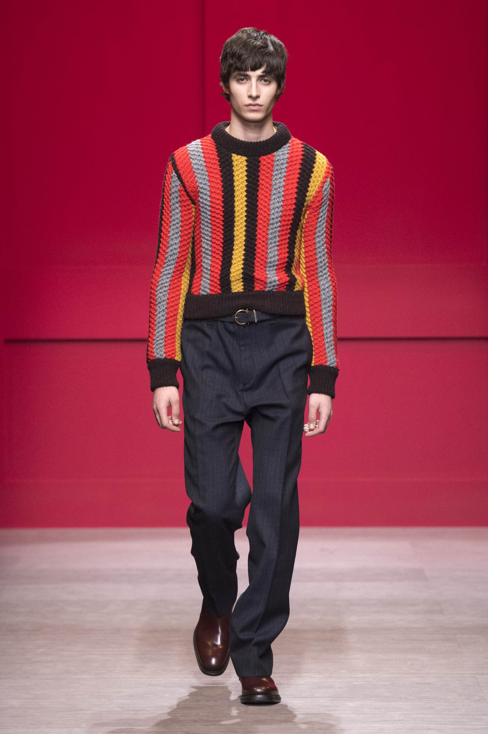 2018 Catwalk Salvatore Ferragamo Man Fashion Show Winter