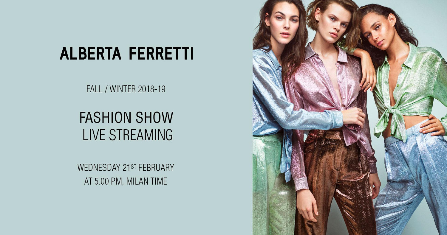 Alberta Ferretti Fall Winter 2018-19 Fashion Show Live Streaming Milan