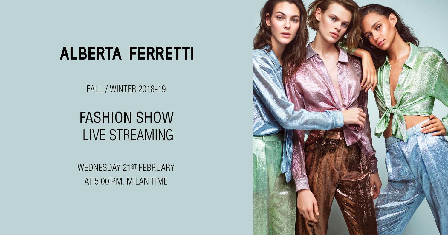 Alberta Ferretti Fall Winter 2018-19 Fashion Show Live Streaming Milan