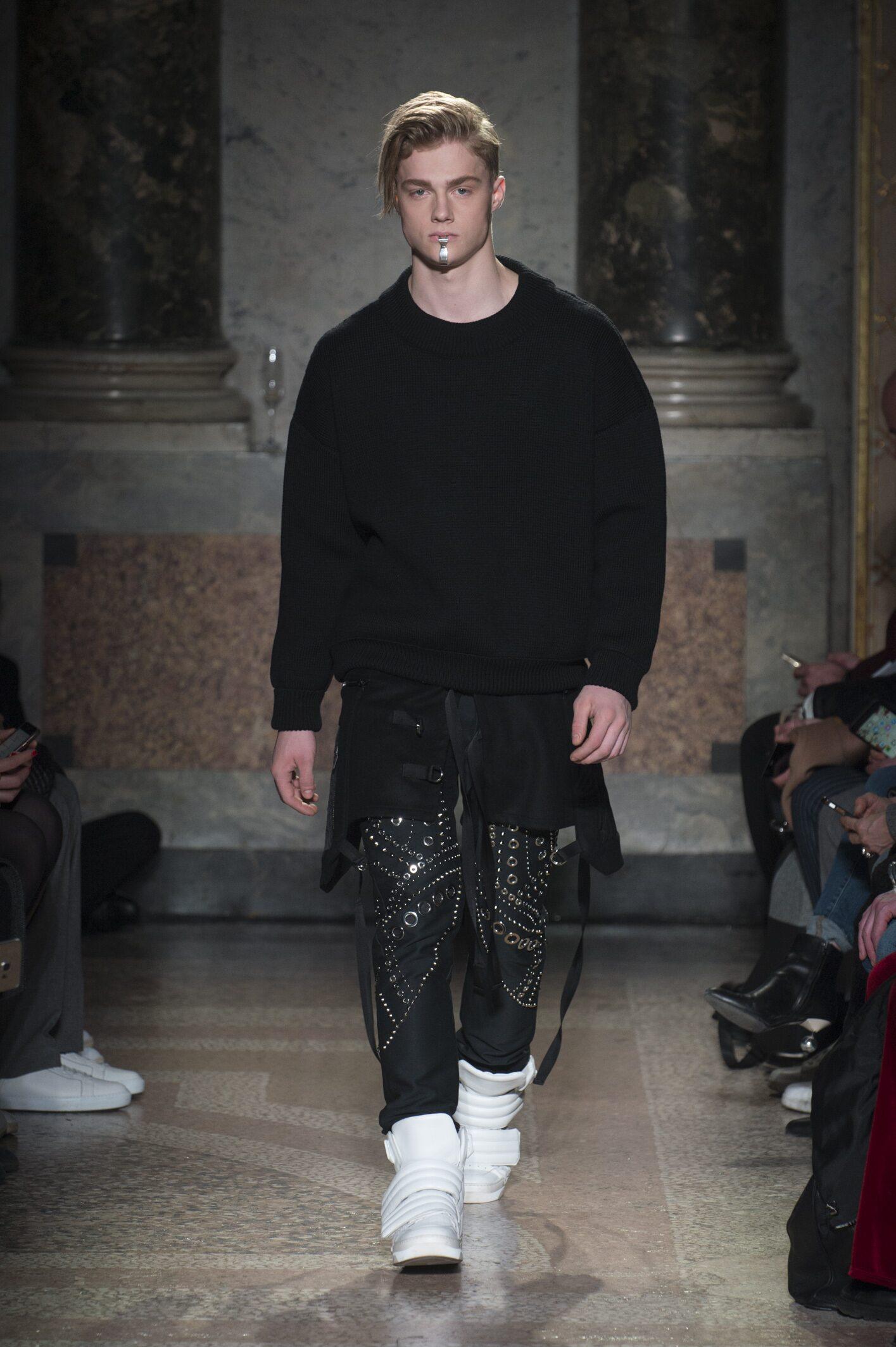Catwalk Les Hommes Man Fashion Show Winter 2018