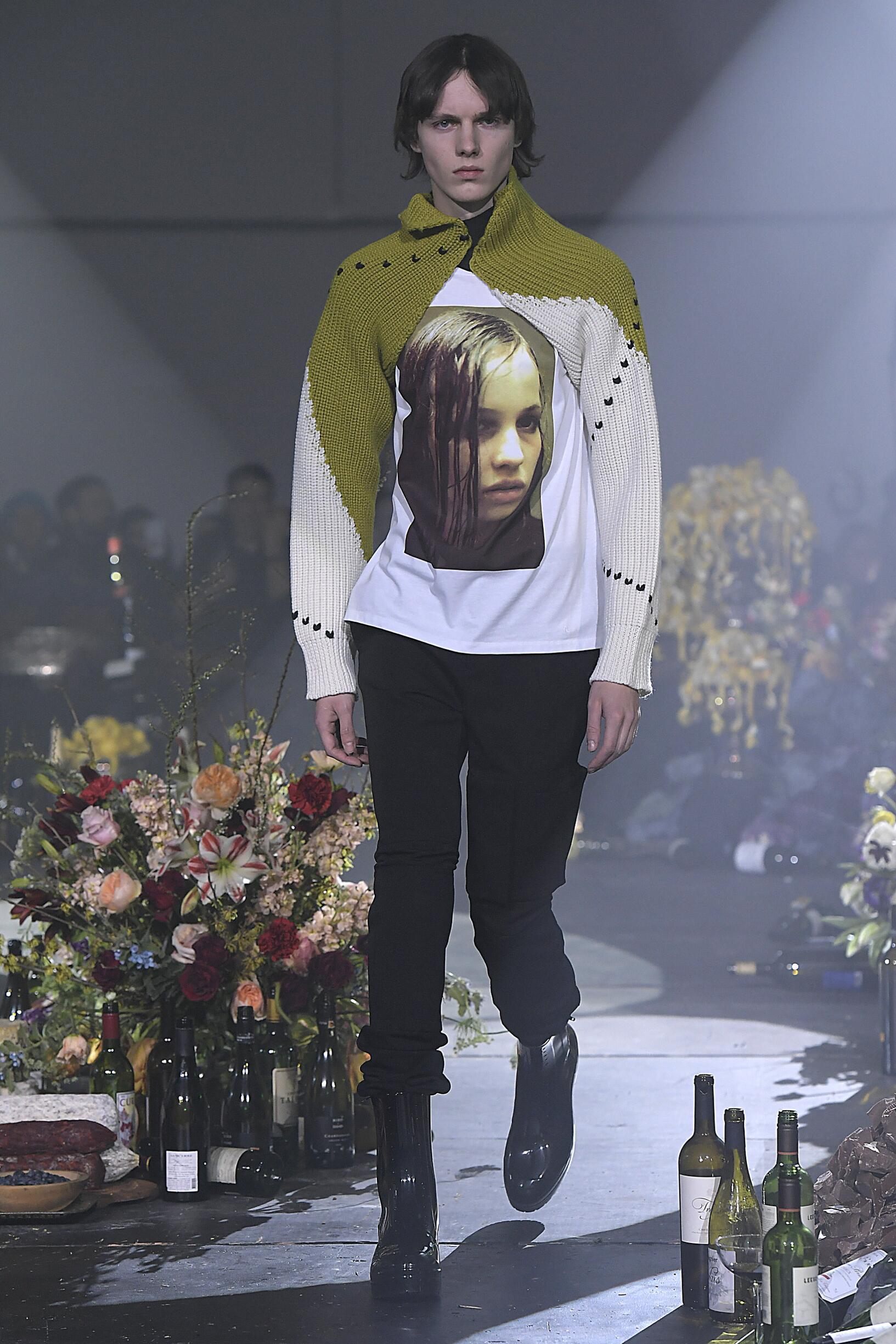 Catwalk Raf Simons Man Fashion Show Winter 2018