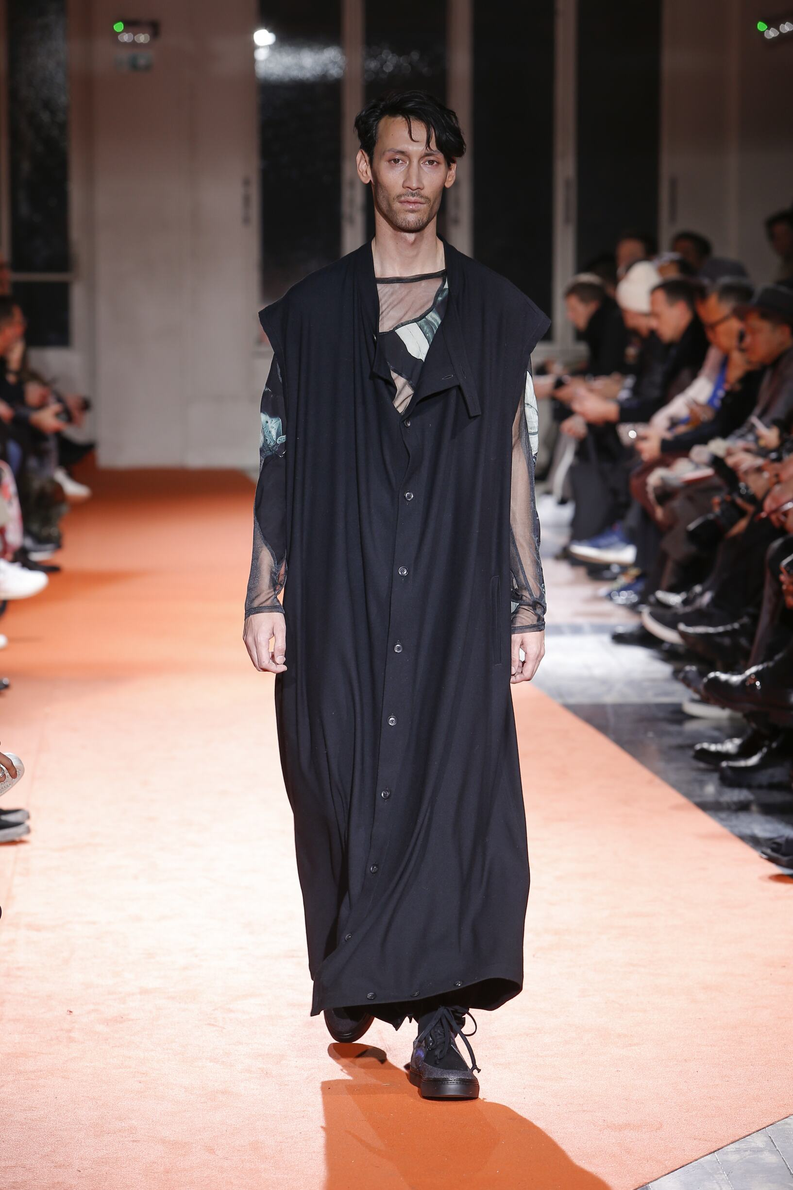 Catwalk Yohji Yamamoto Man Fashion Show Winter 2018