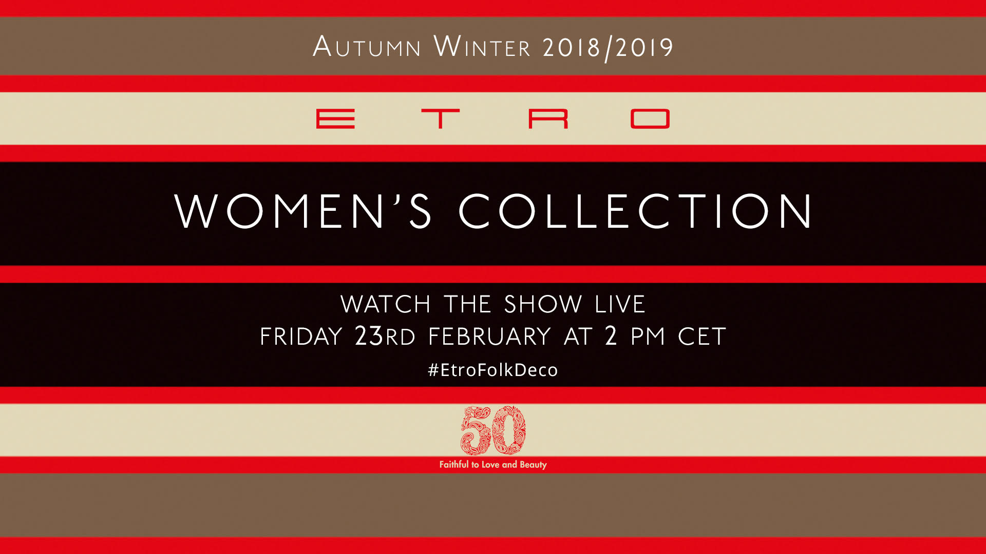 Etro Fall Winter 2018-19 Fashion Show Live Streaming Milan