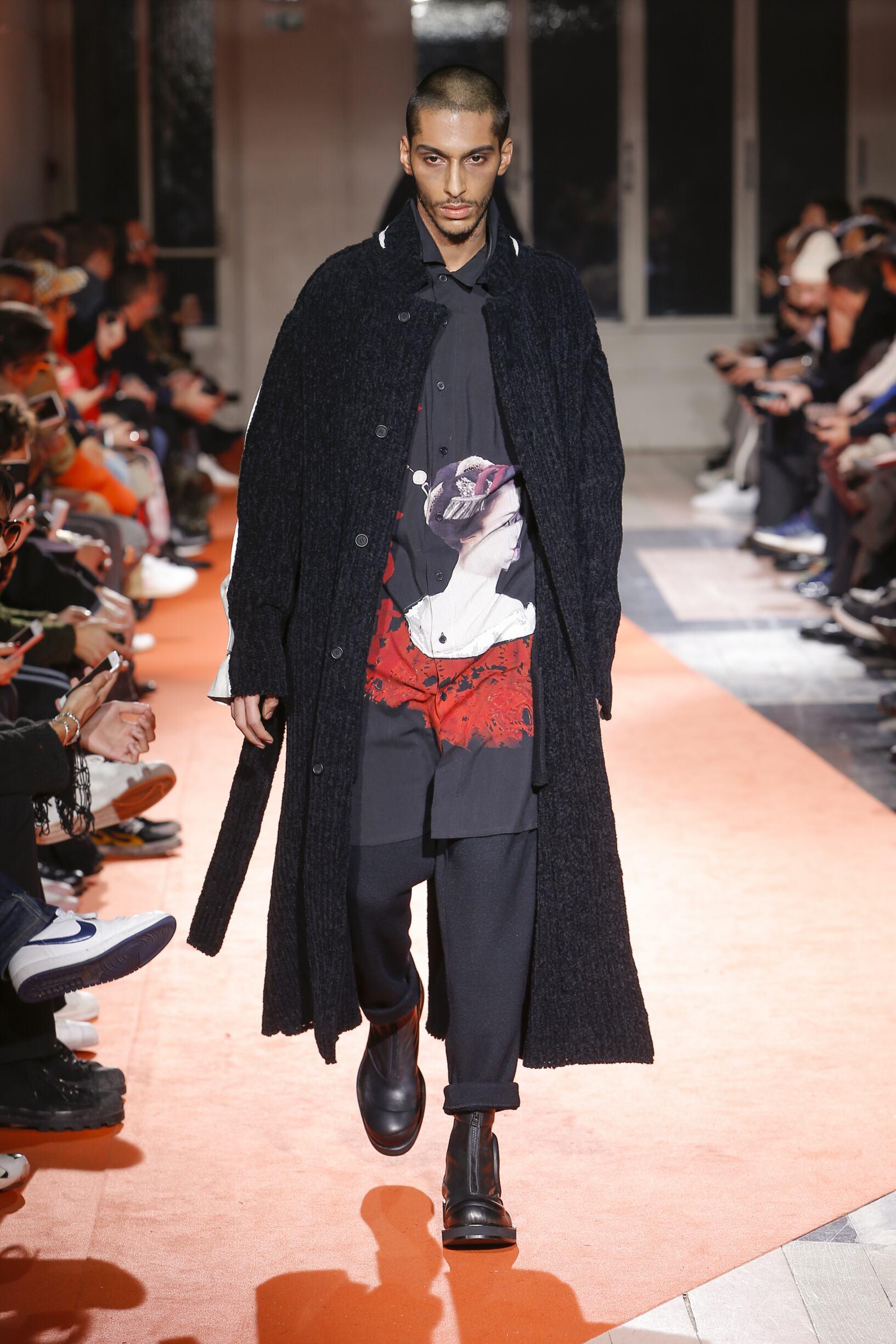 Fall Winter 2018 Man Paris Yohji Yamamoto Collection