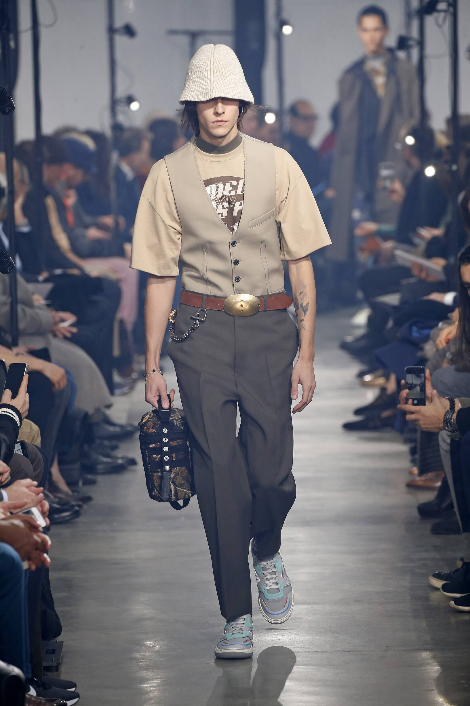 Fashion Man Model Lanvin Catwalk
