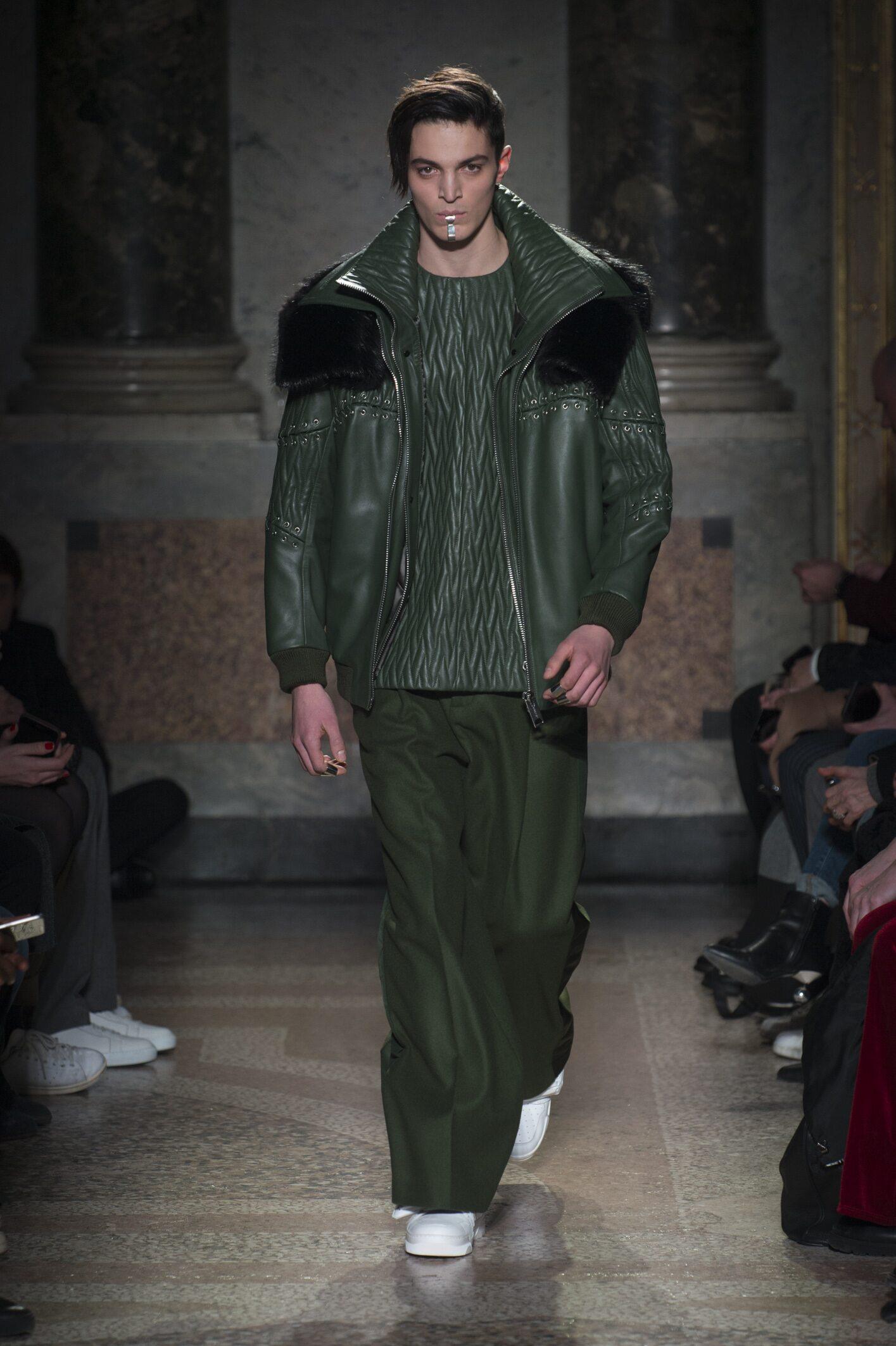 Fashion Man Model Les Hommes Catwalk