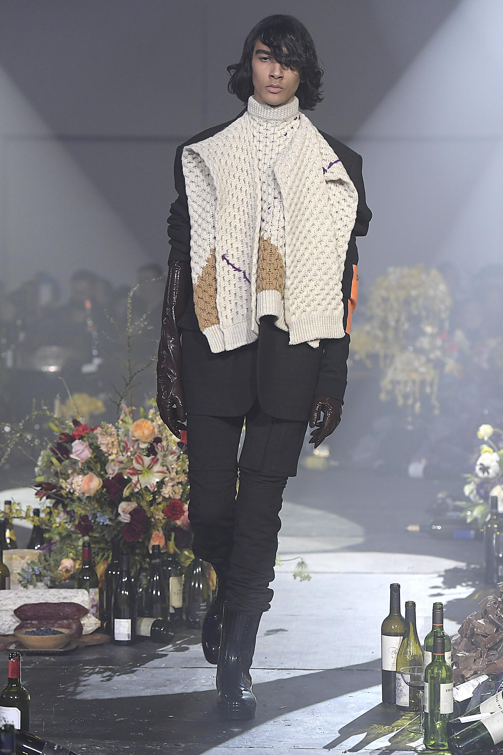 Fashion Man Model Raf Simons Catwalk