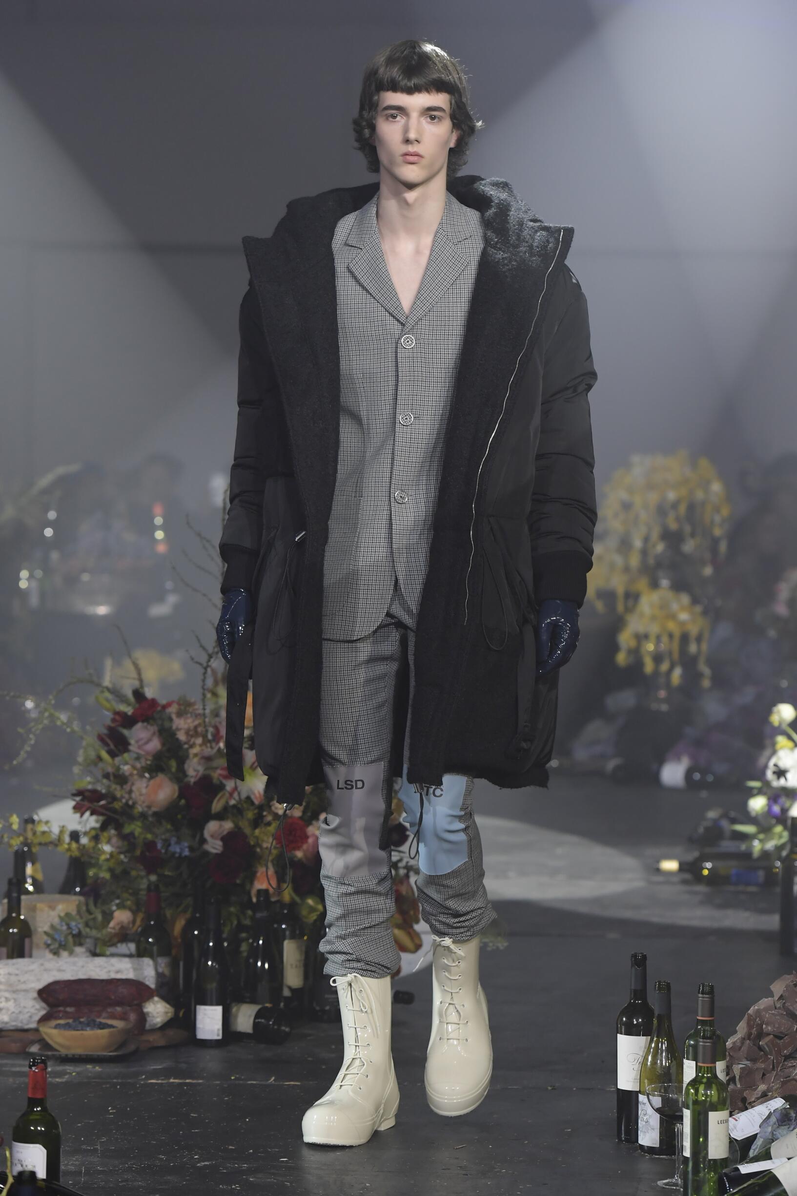 Fashion Model Raf Simons Catwalk