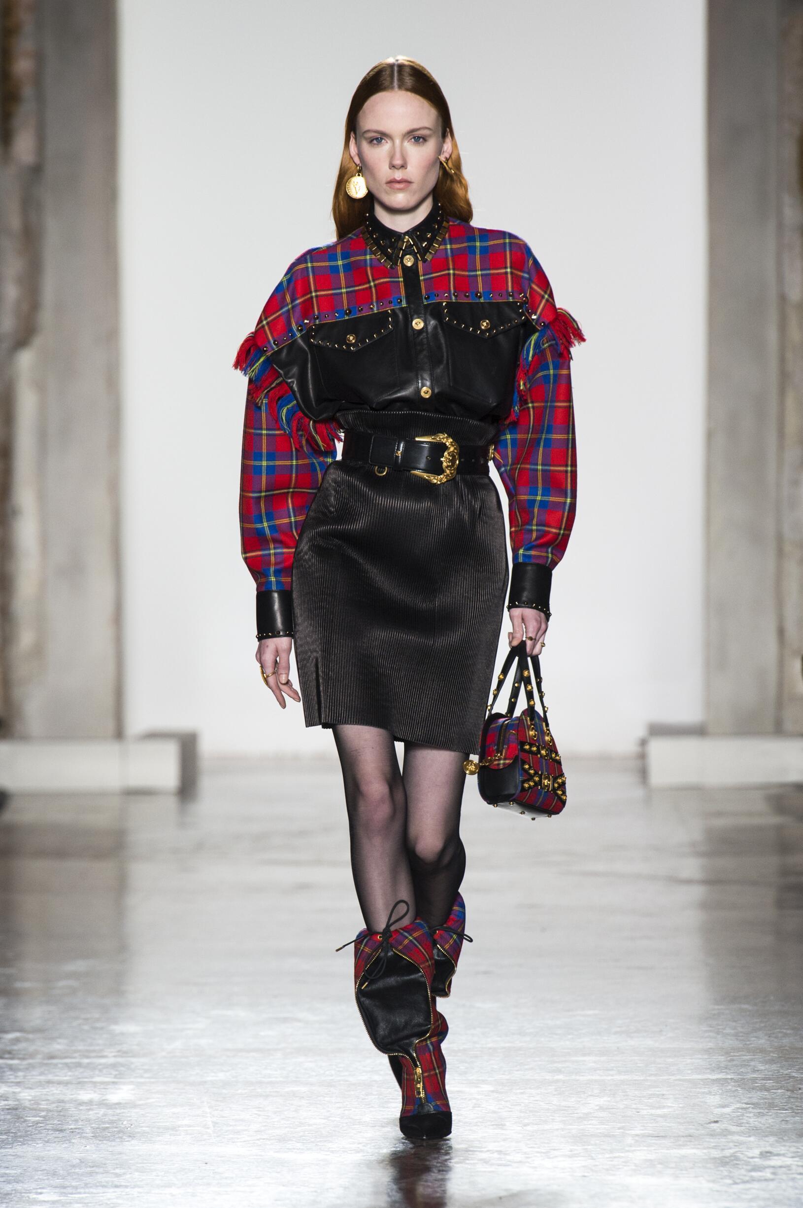 Fashion Model Versace Catwalk