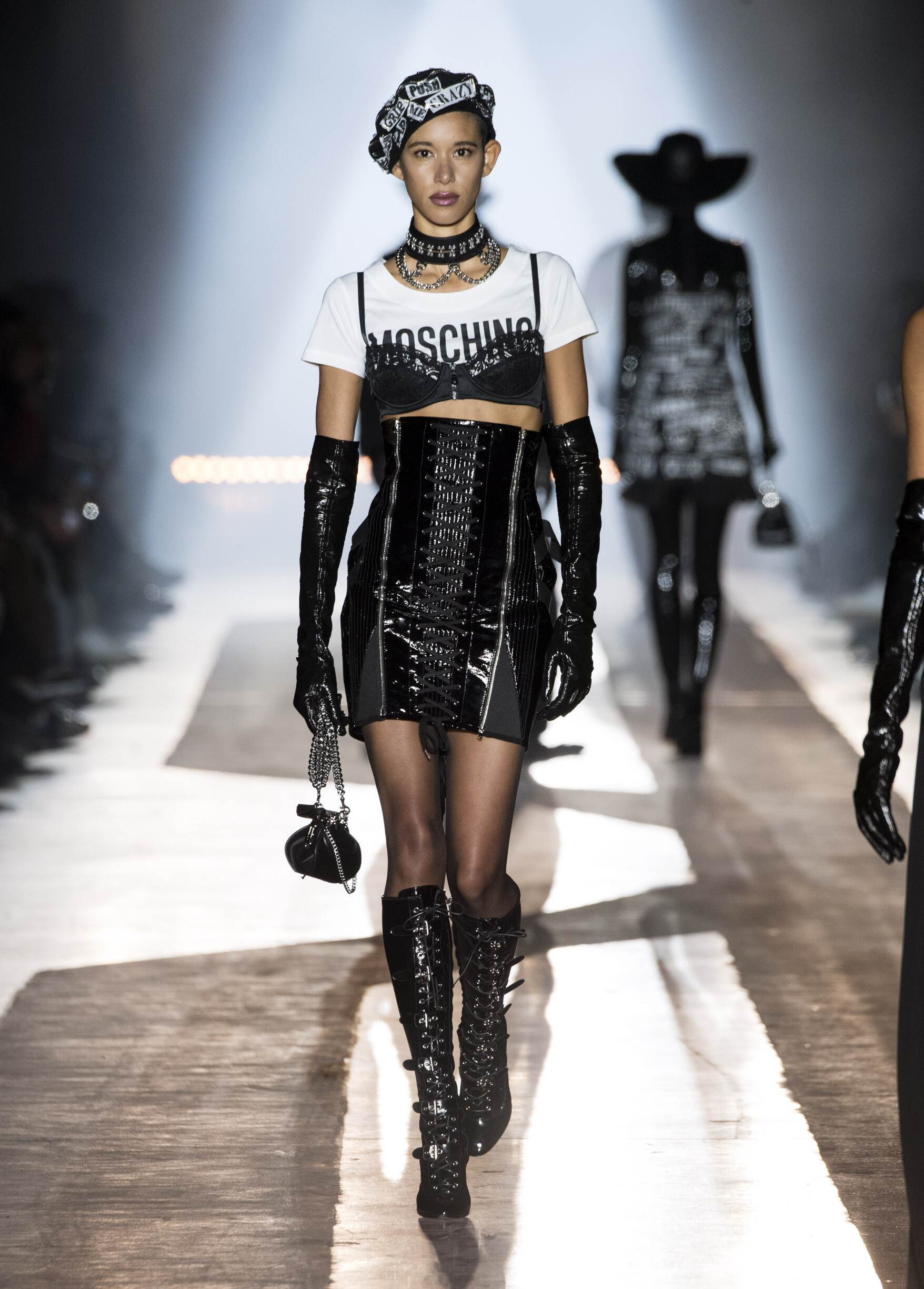 Fashion Woman Model Moschino Runway