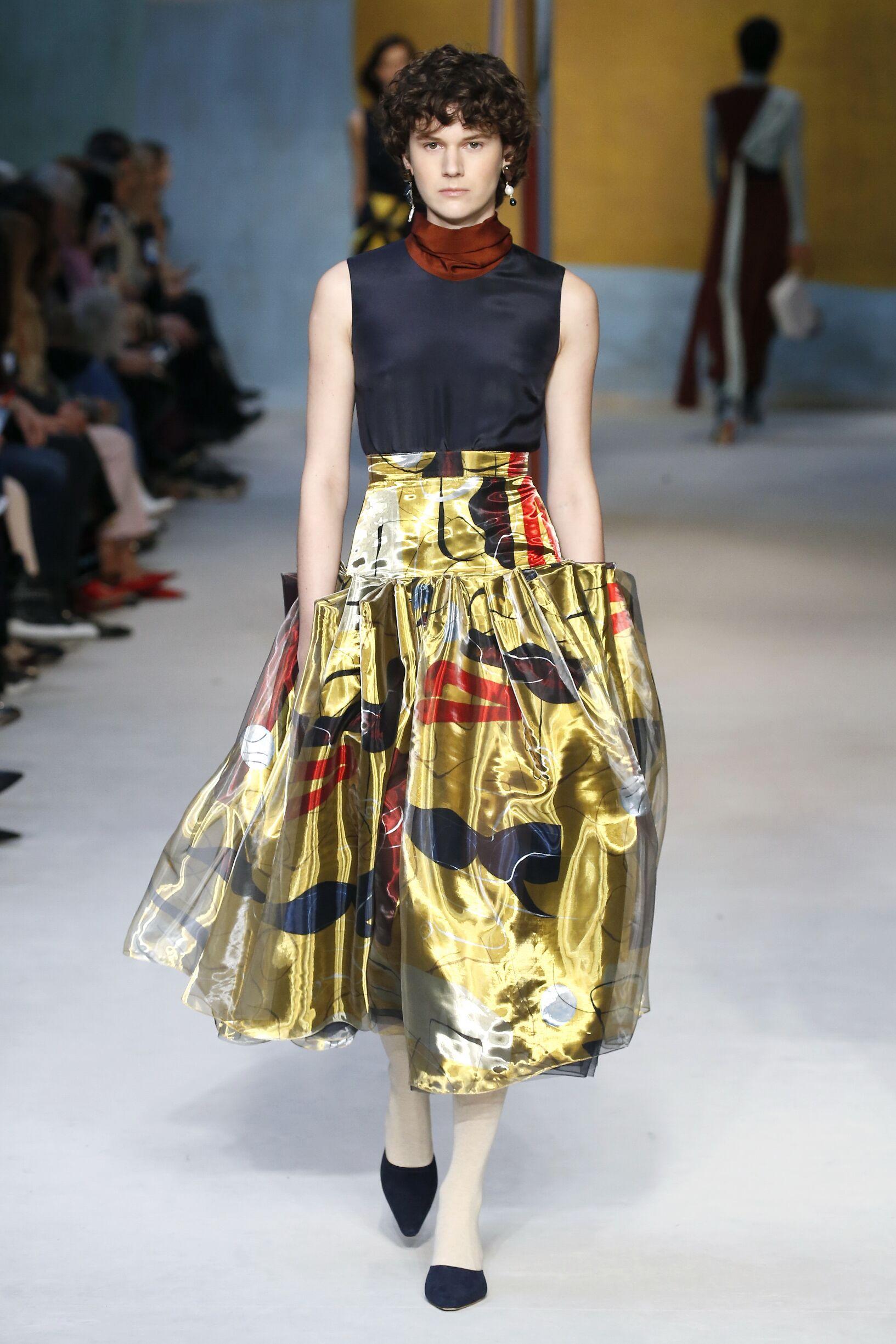 Fashion Woman Model Roksanda Catwalk