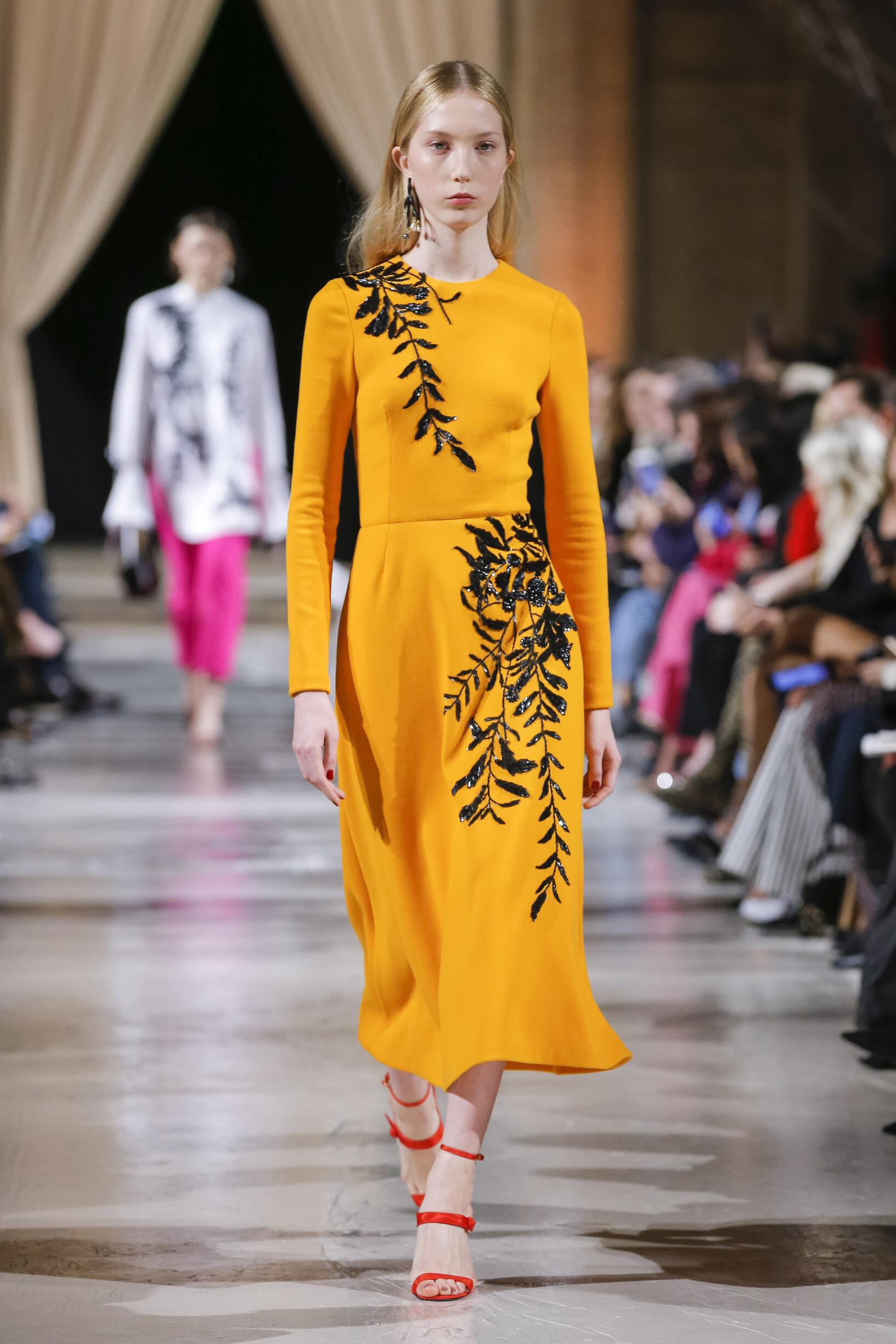 Model Fashion Show Oscar de la Renta