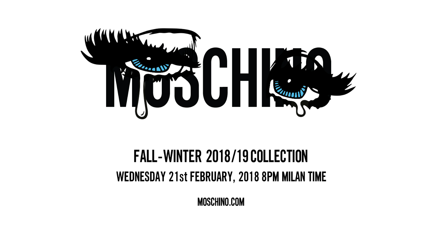 Moschino Fall Winter 2018-19 Fashion Show Live Streaming Milan