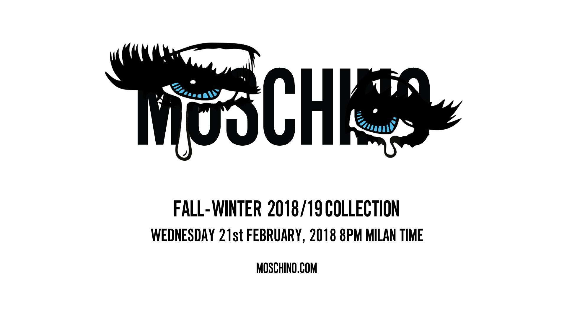 Moschino Fall Winter 2018-19 Fashion Show Live Streaming