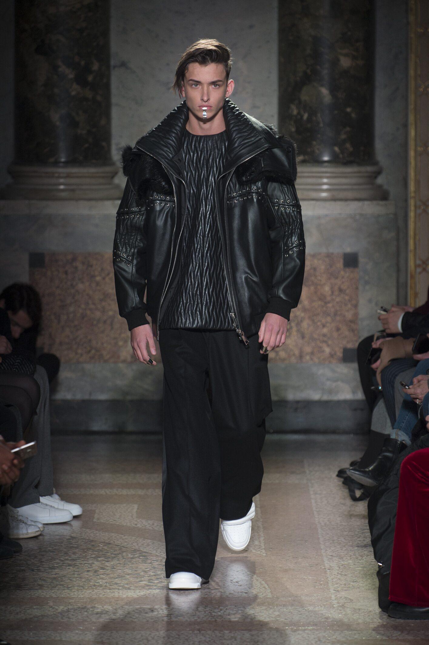 Runway Les Hommes Fall Winter 2018 Men's Collection Milan Fashion Week