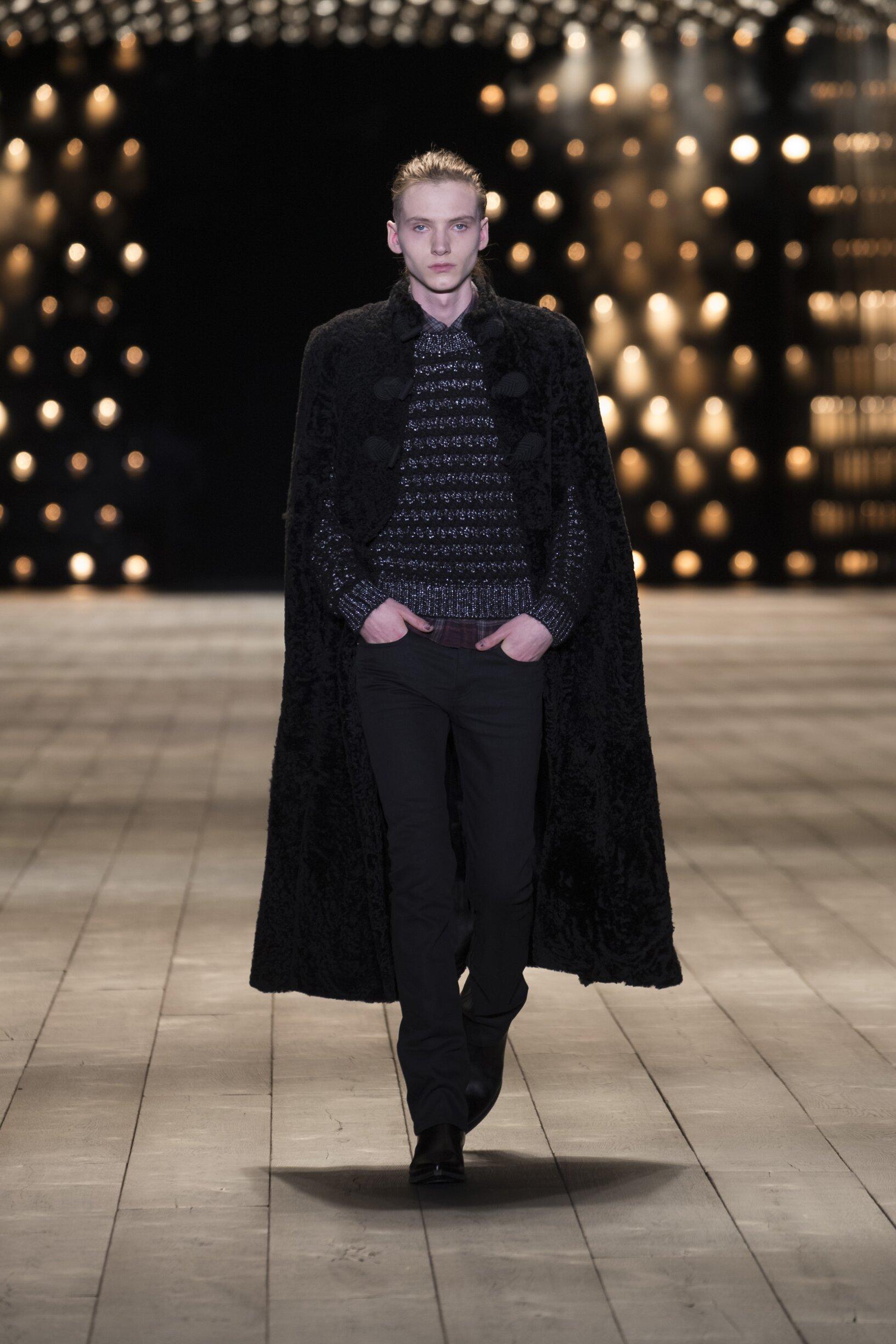 2018 Catwalk Saint Laurent Woman Fashion Show Winter