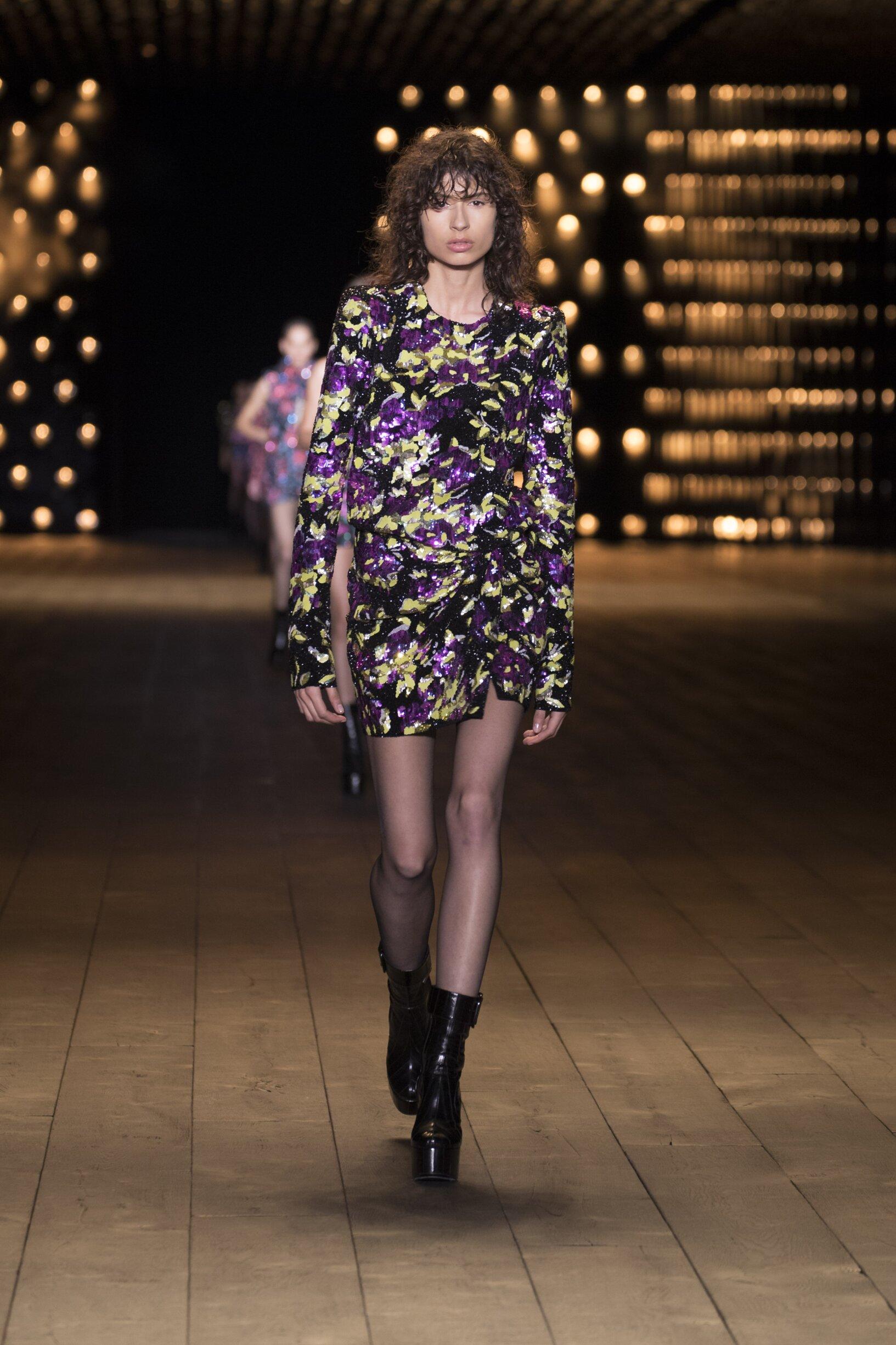 2018 Woman Saint Laurent Trends Paris Fashion Week