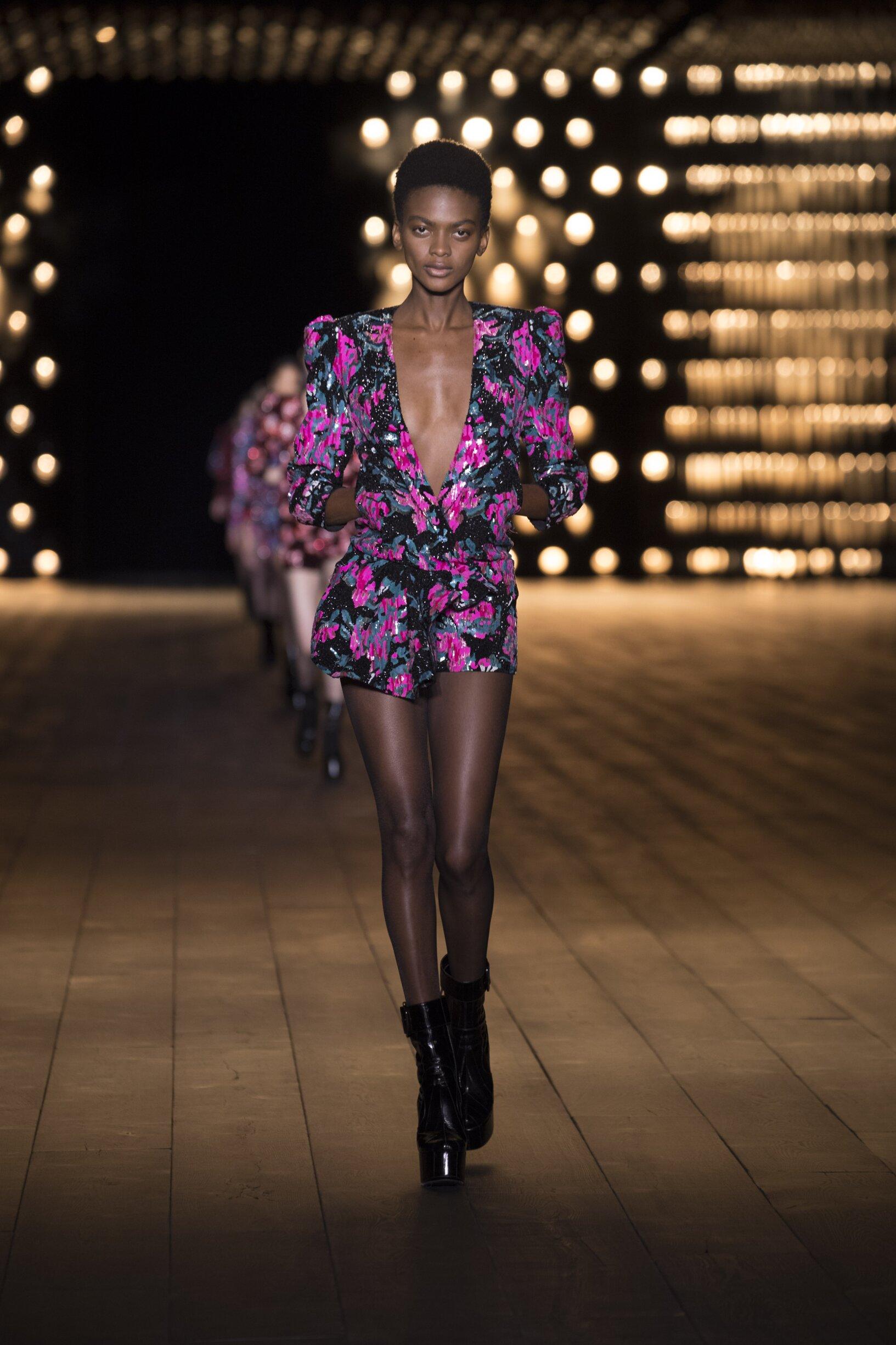 FW 2018 Saint Laurent Show Paris Fashion Week Womenswear