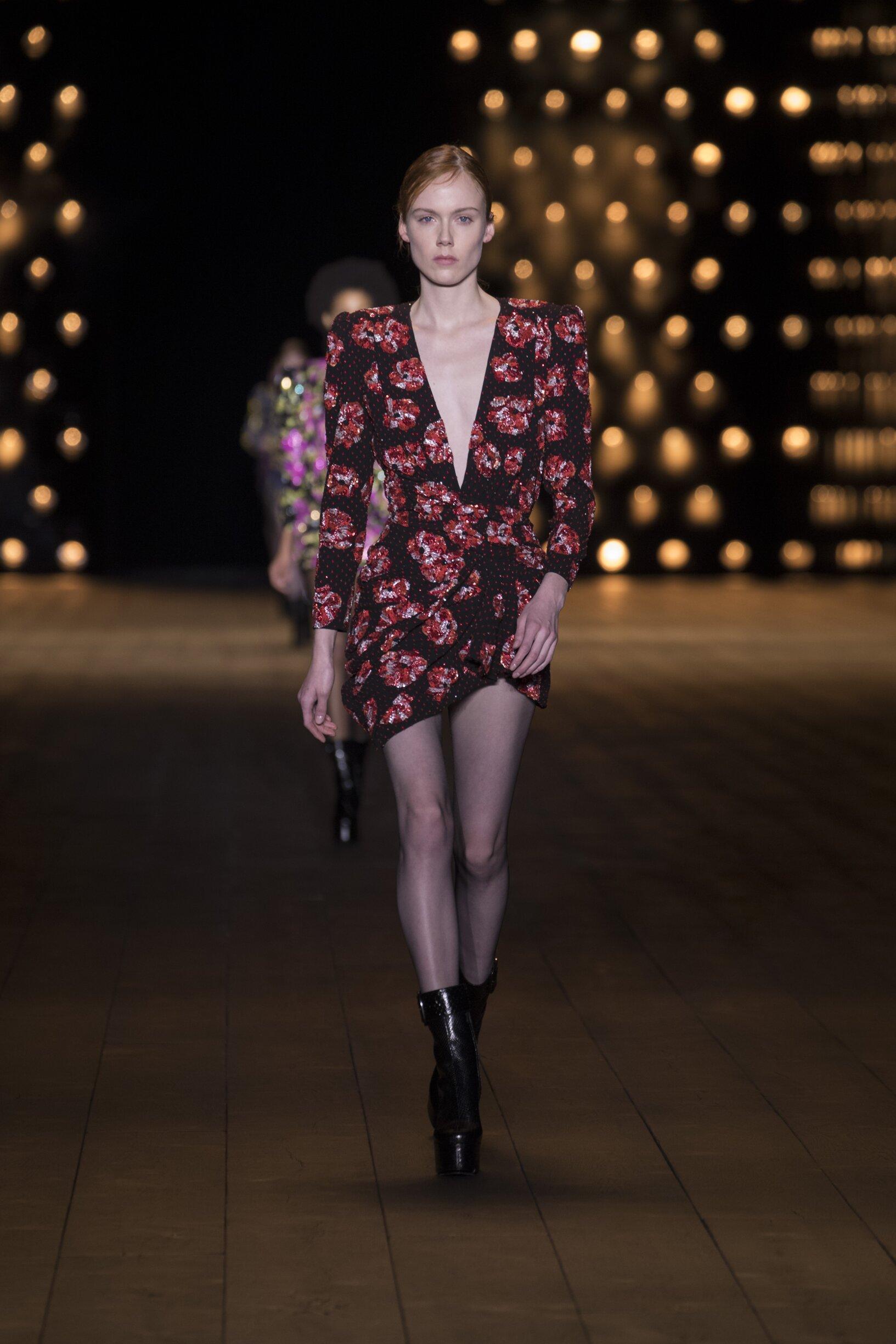FW 2018 Saint Laurent Show Paris Fashion Week