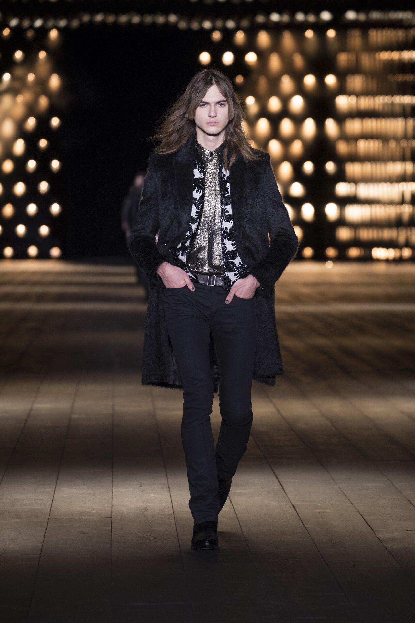 Fashion 2018 Runway Woman Saint Laurent Winter