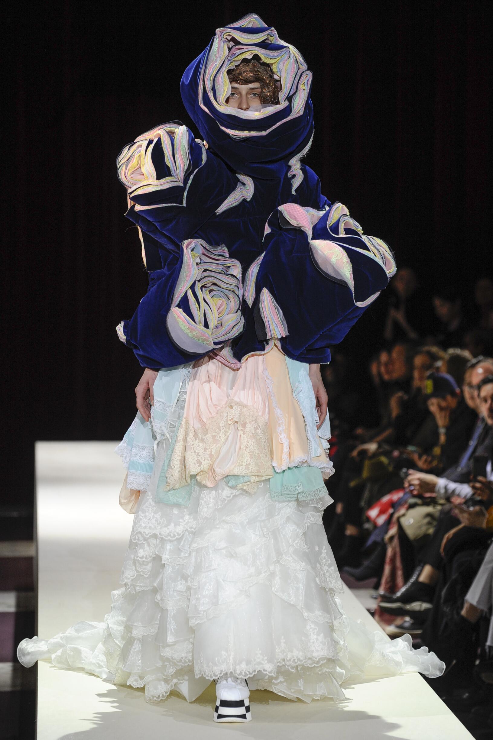 Fashion Model Comme des Garçons Catwalk