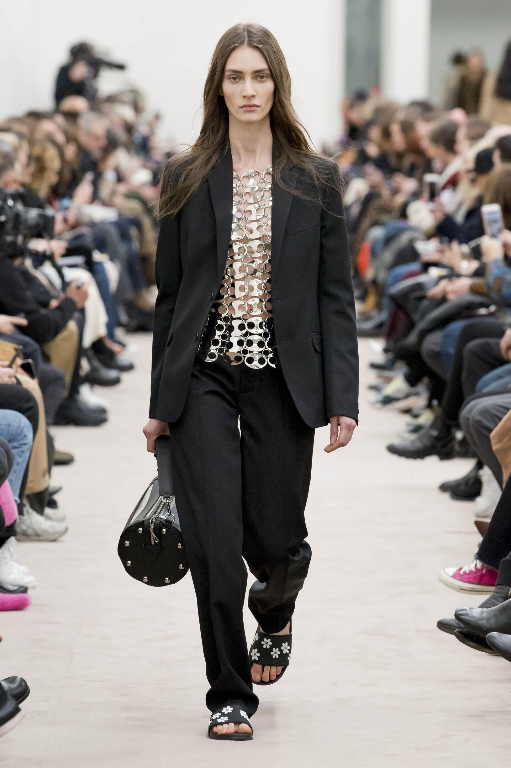Fashion Model Paco Rabanne Catwalk