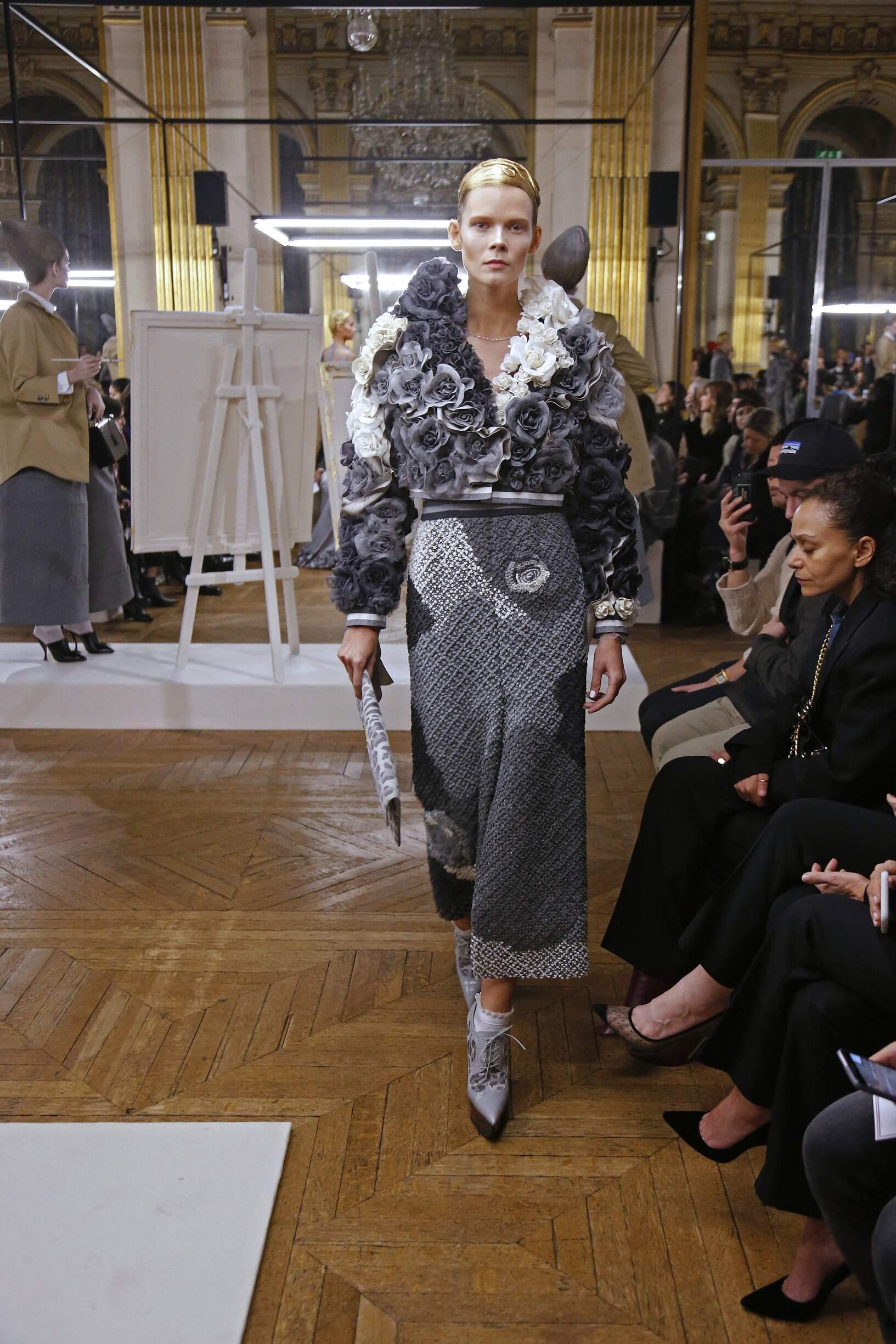 Fashion Model Thom Browne Catwalk