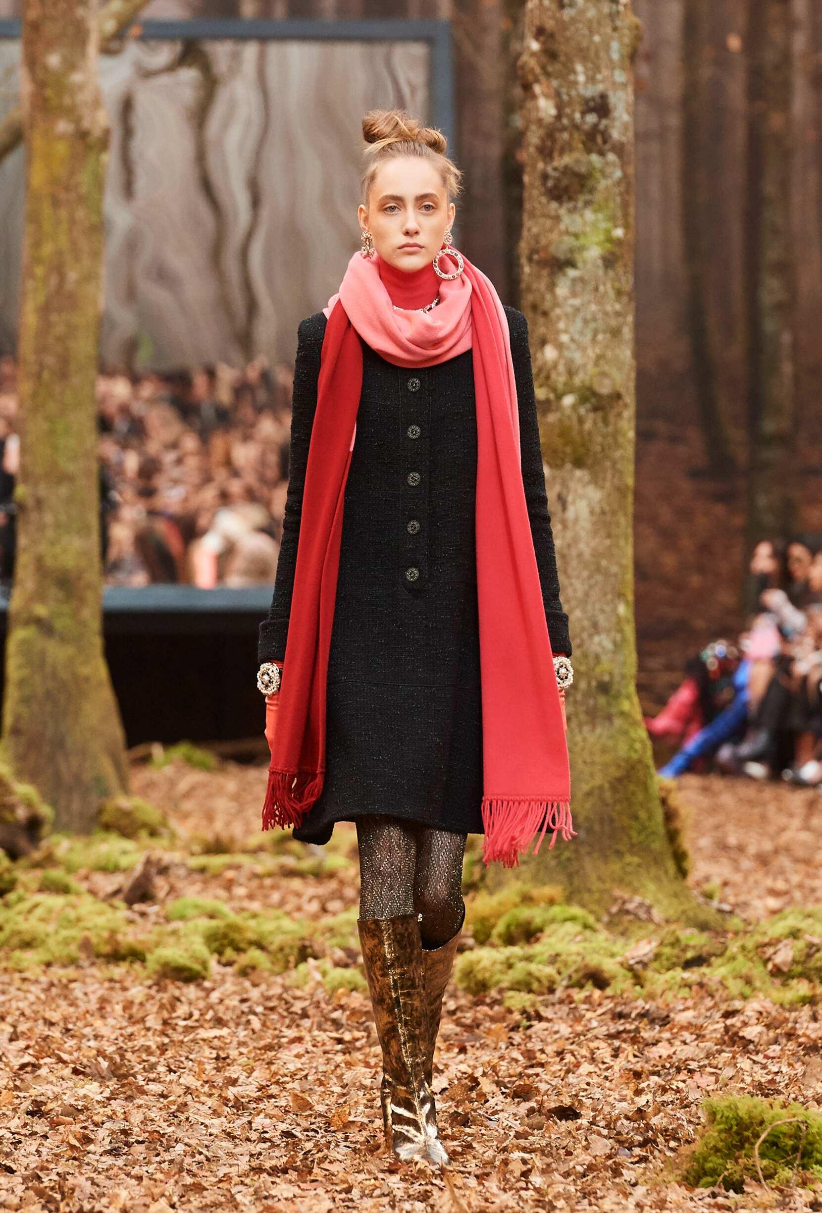 Fashion Show Woman Model Chanel Catwalk