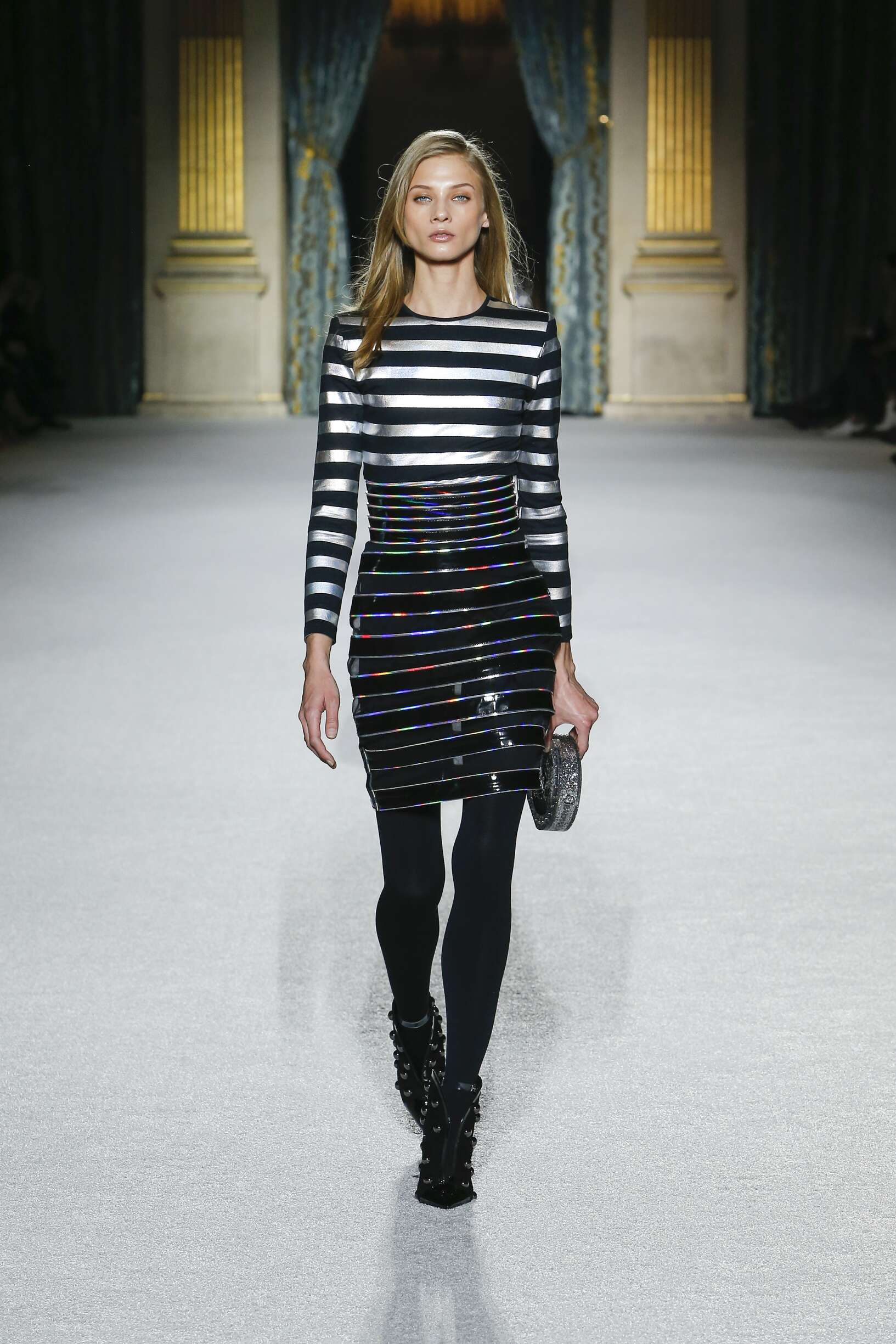 Fashion Woman Model Balmain Catwalk