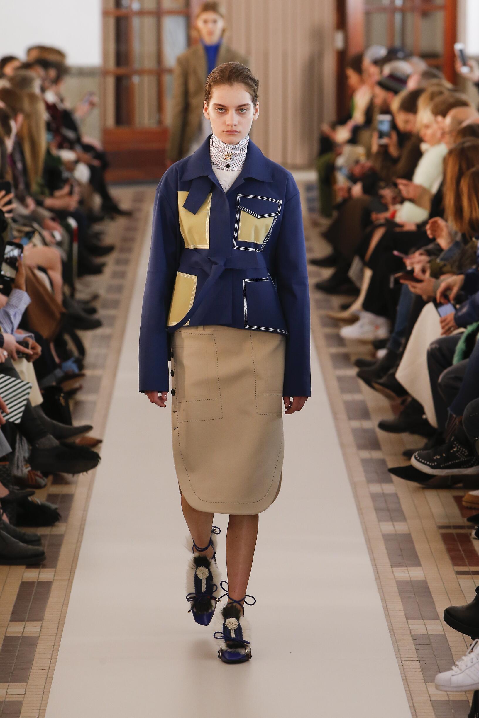 Fashion Woman Model Carven Catwalk