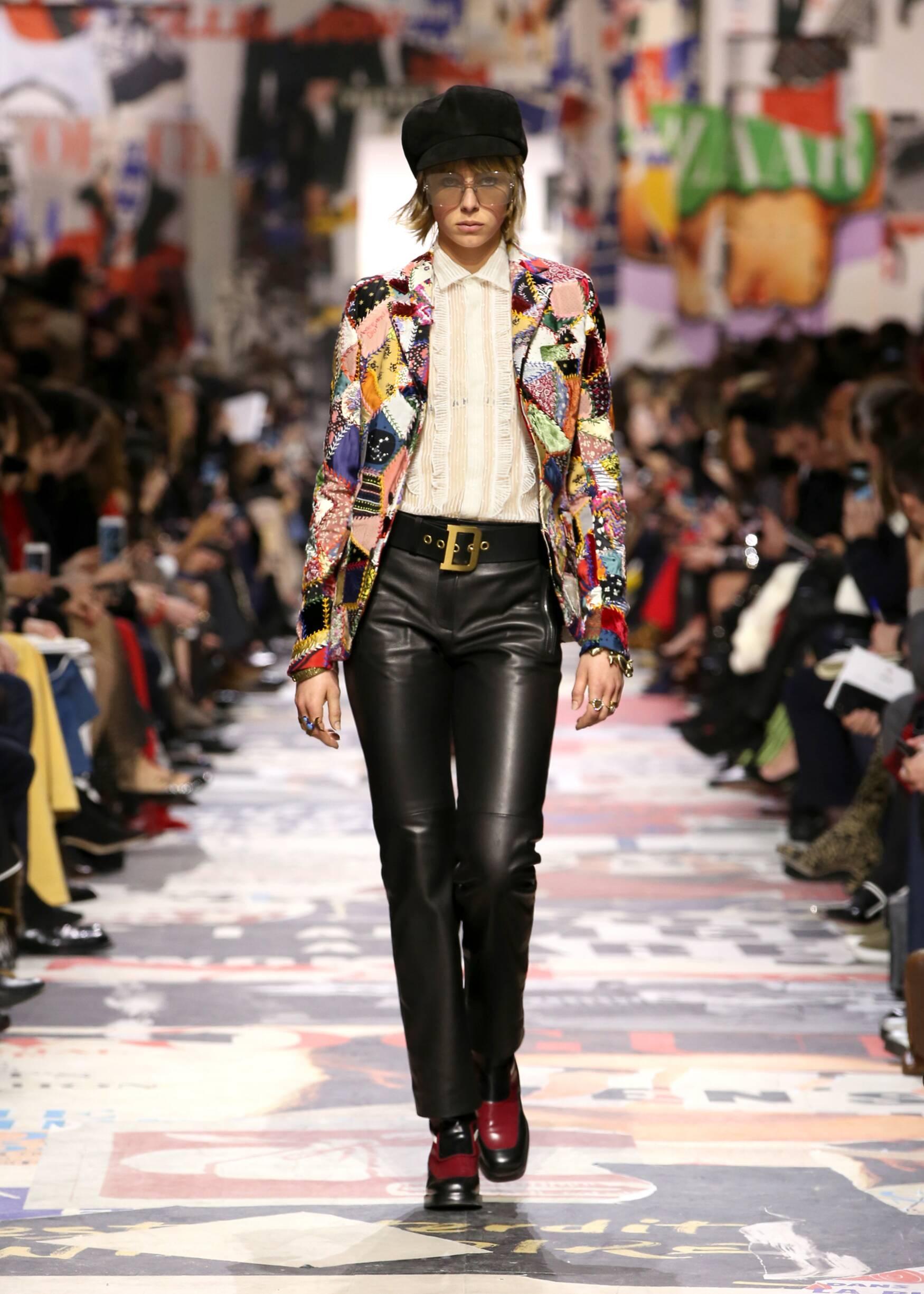 Fashion Woman Model Dior Catwalk