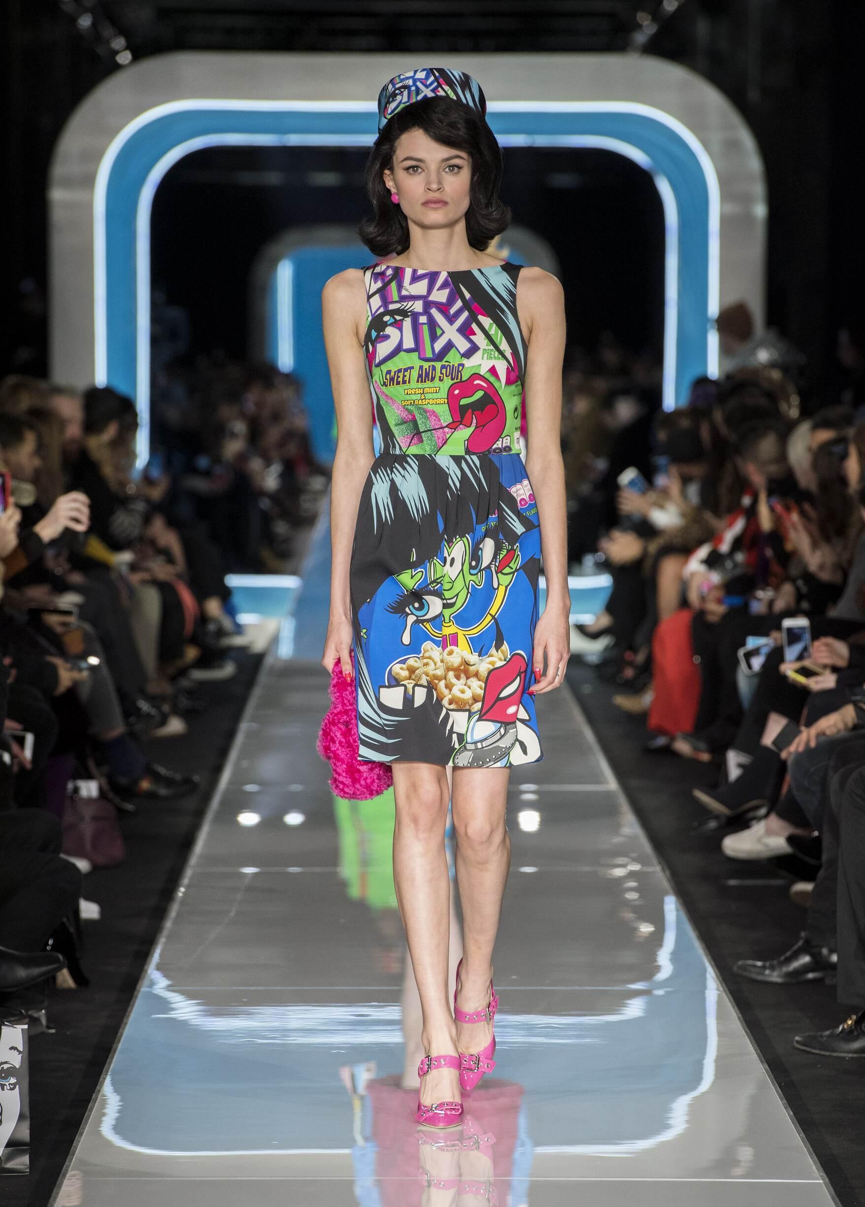 Fashion Woman Model Moschino Catwalk