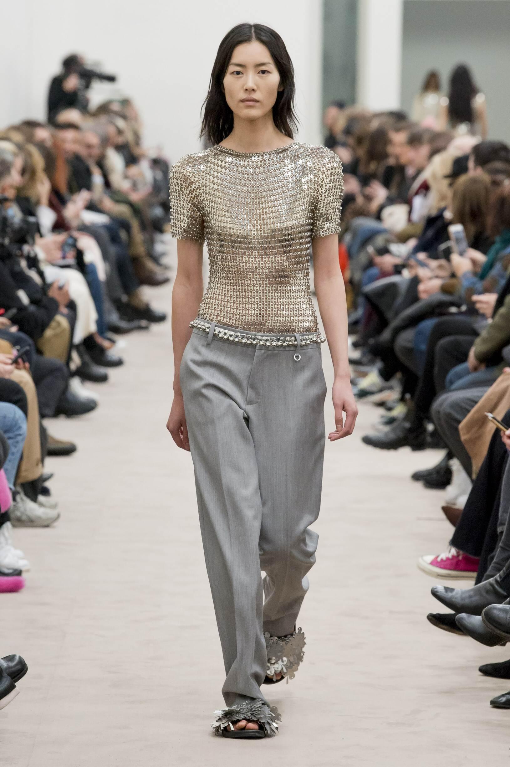 Fashion Woman Model Paco Rabanne Catwalk