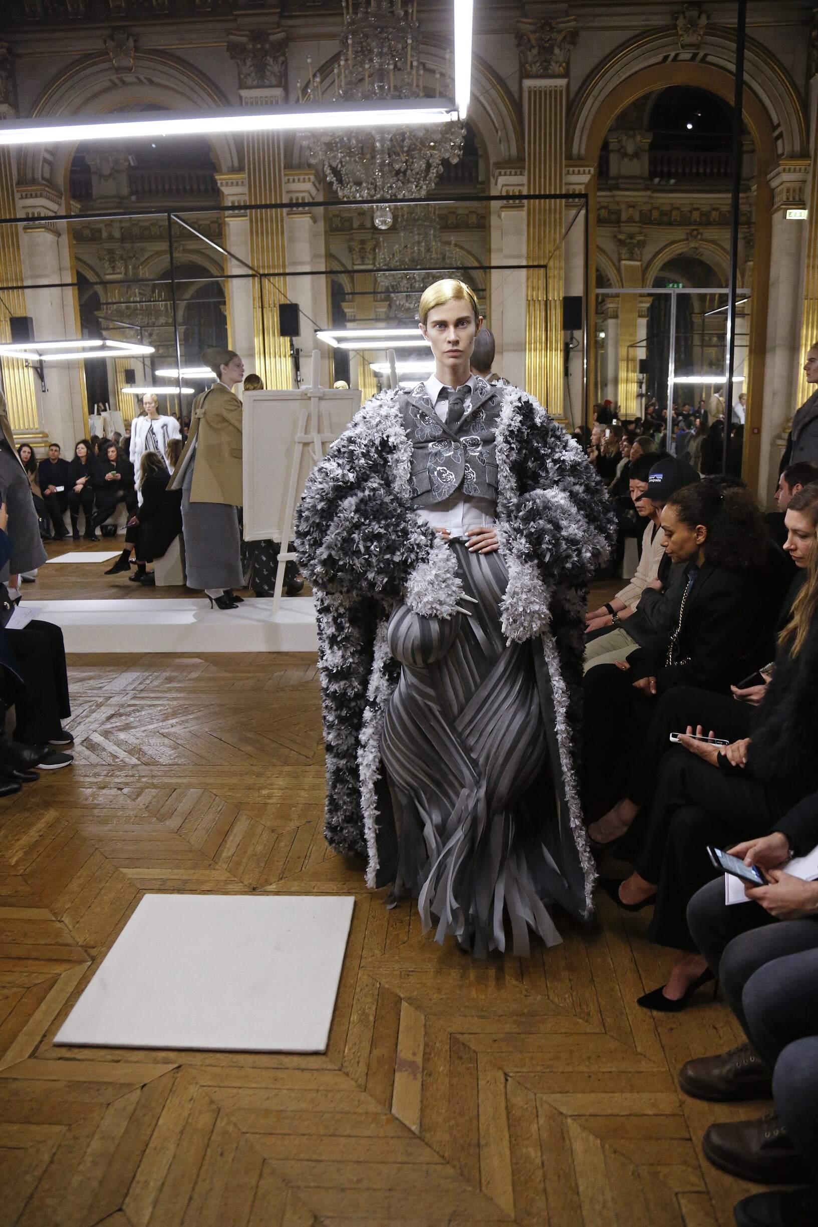 Fashion Woman Model Thom Browne Catwalk