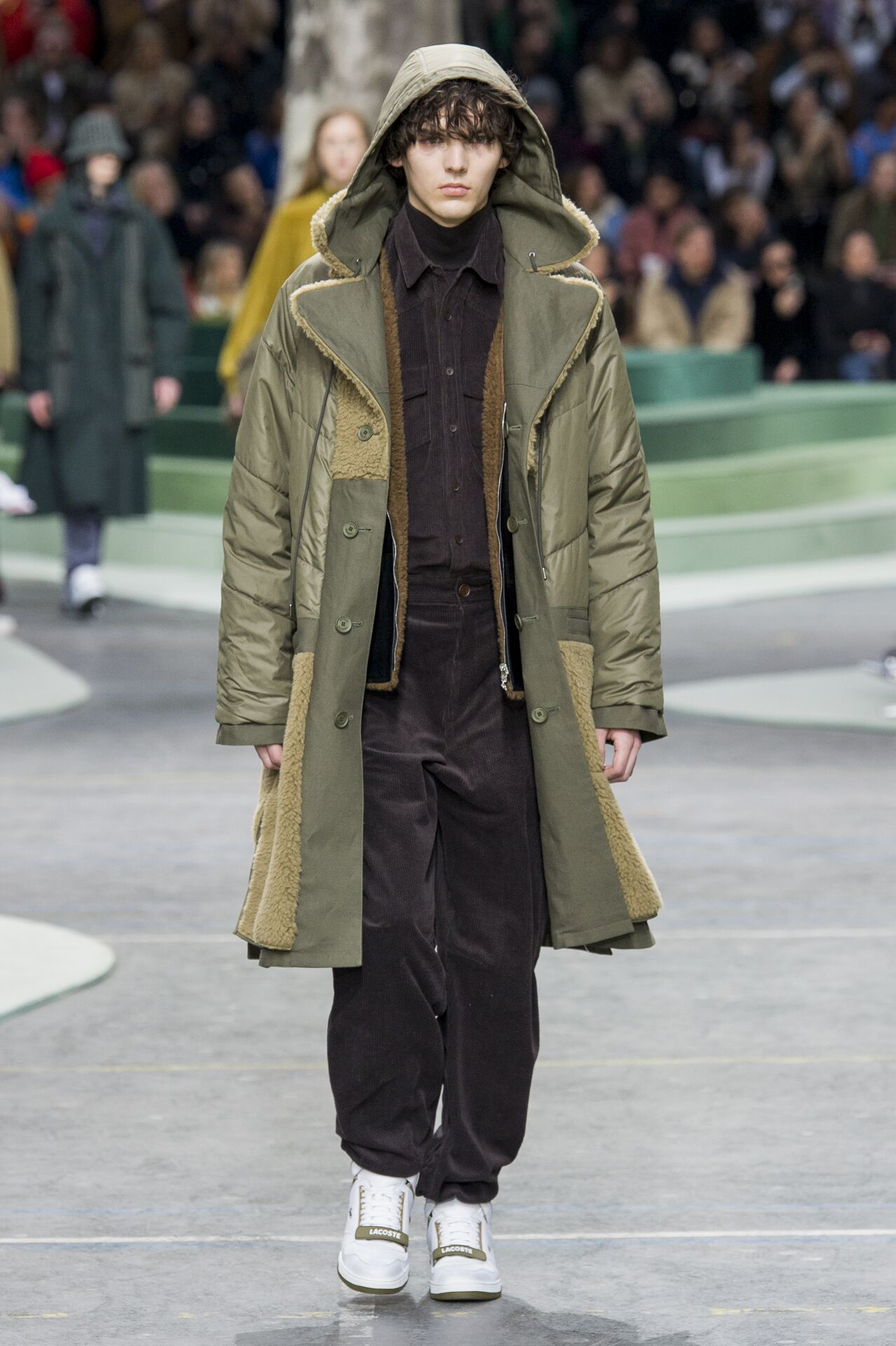 Runway Lacoste Fall Winter 2018 Men's Collection Paris Fashion Week