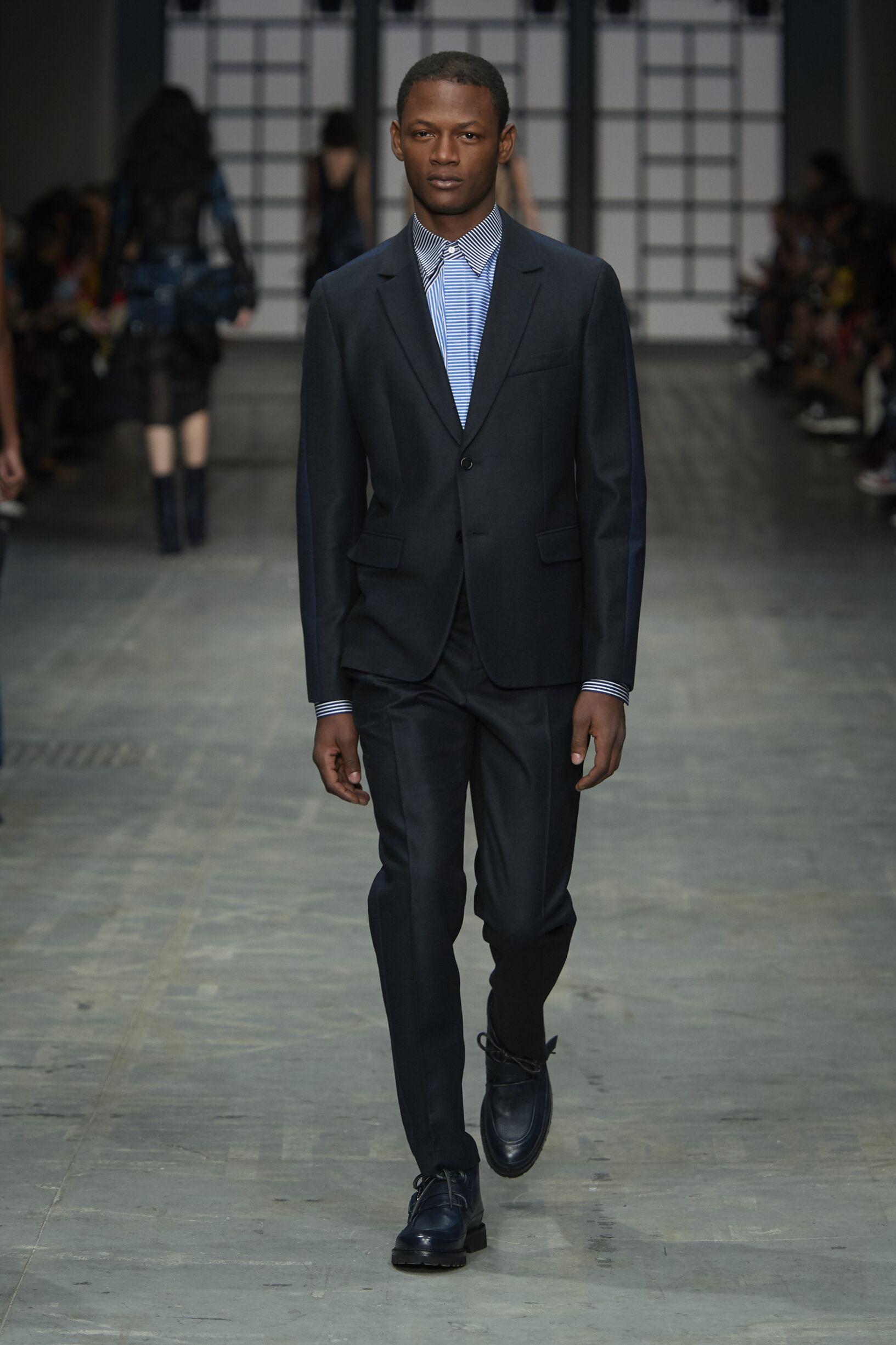 Suit FW 2018-19 Trussardi Fashion Show Milan