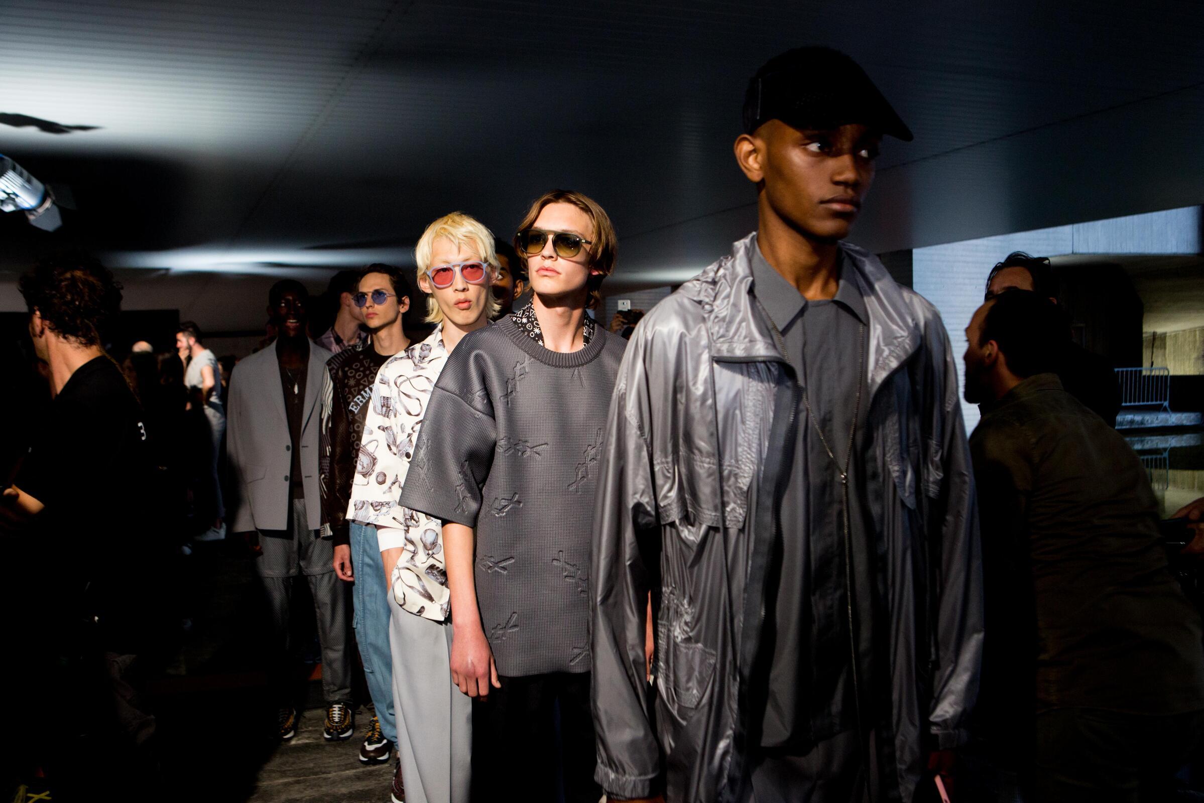 Backstage Ermenegildo Zegna Couture Milan Fashion Week Models