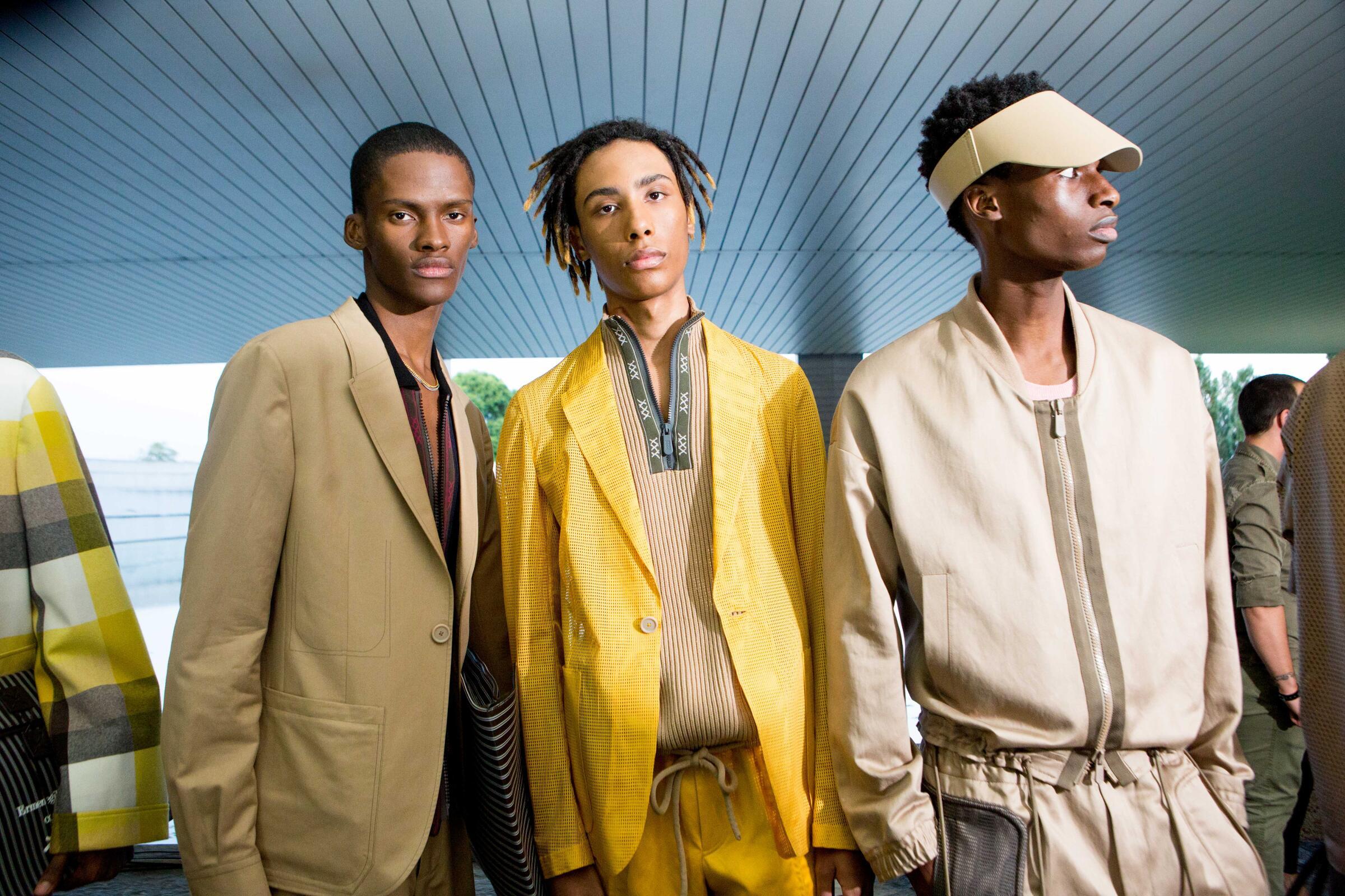 Backstage Ermenegildo Zegna Couture Models Menswear