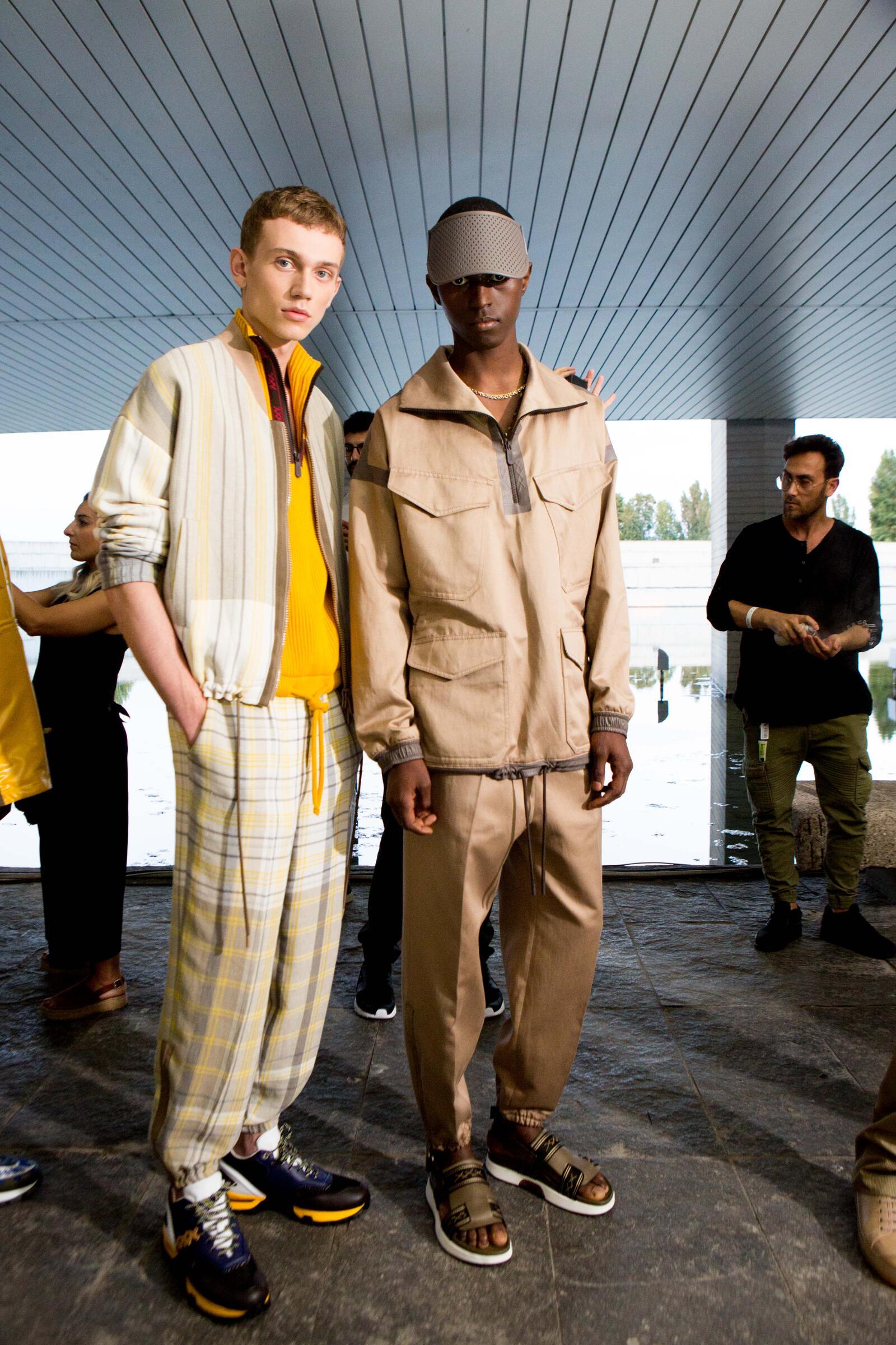 Fashion Men Models Backstage Ermenegildo Zegna Couture